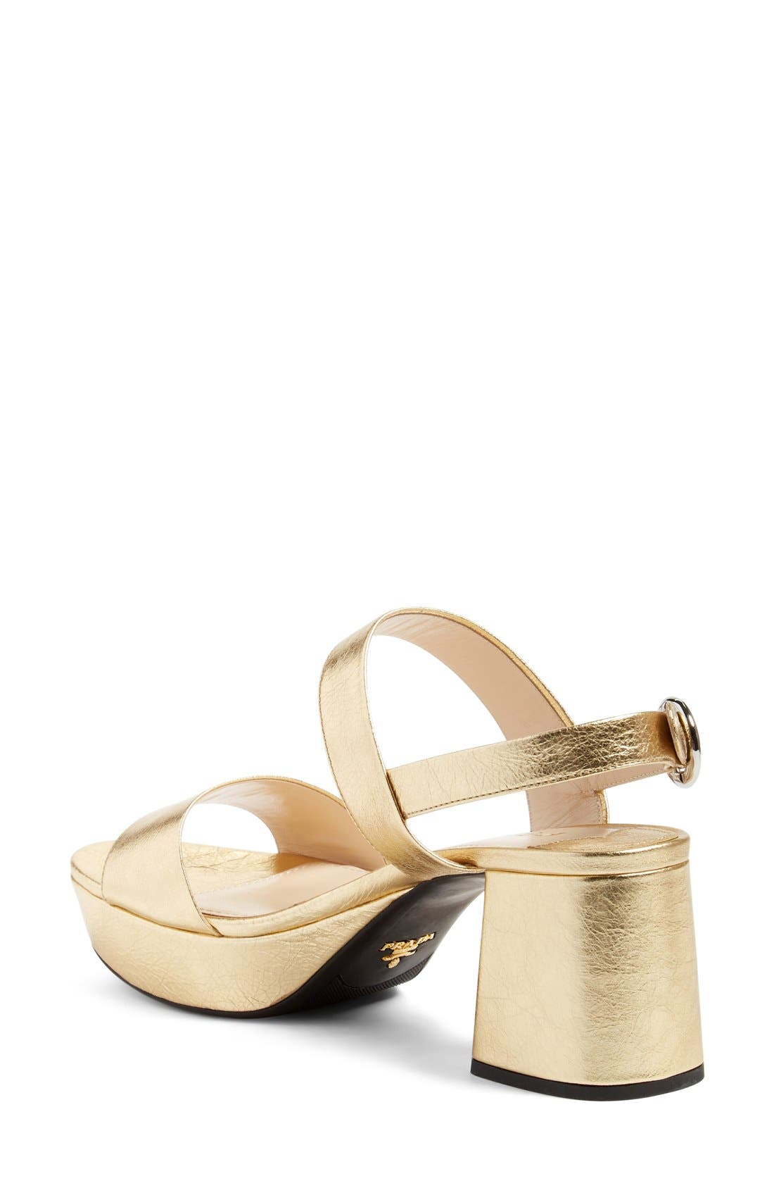 Slingback Platform Sandal,                             Alternate thumbnail 16, color,