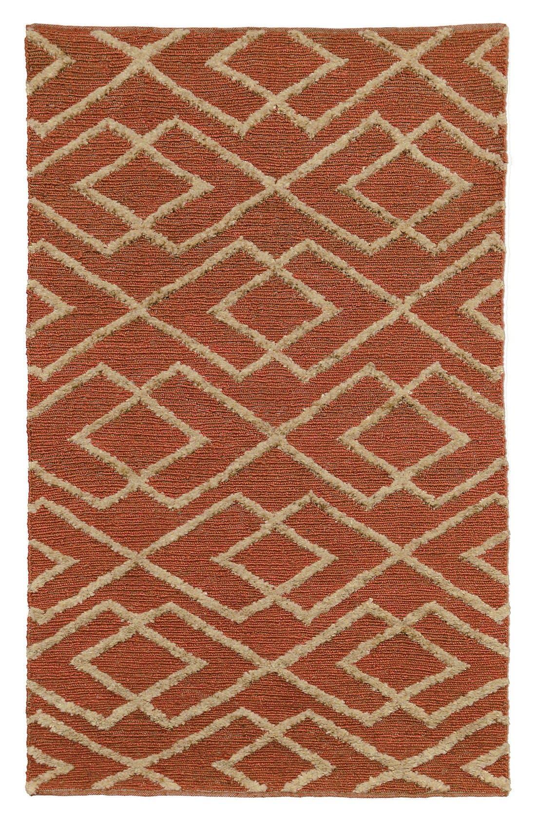 Soumak Aura Handwoven Rug,                             Main thumbnail 4, color,