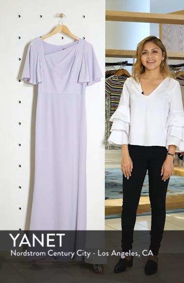 Asymmetrical Neckline Evening Dress, sales video thumbnail