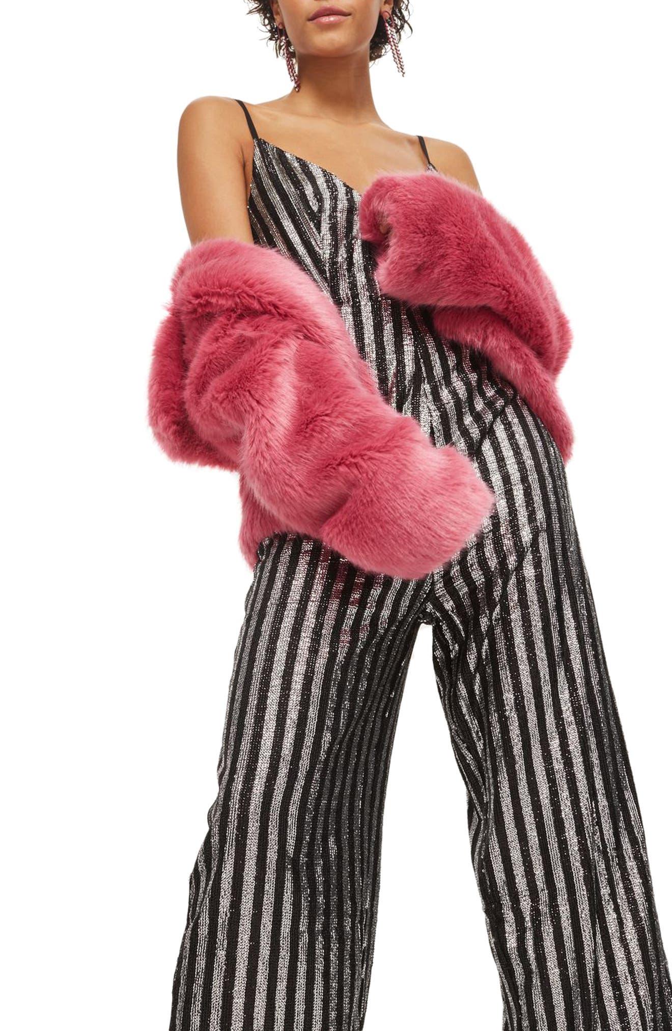 Sequin Stripe Jumpsuit,                             Alternate thumbnail 3, color,