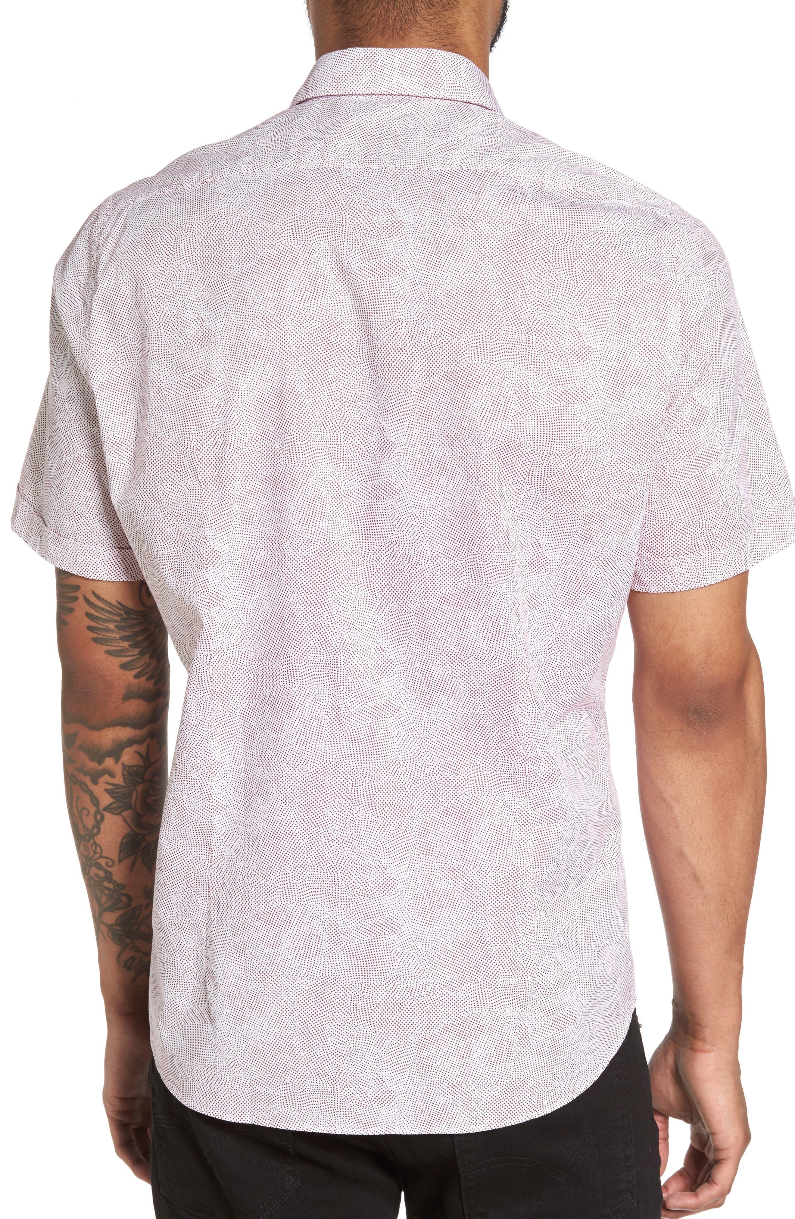 Luka Trim Fit Dot Print Sport Shirt,                             Alternate thumbnail 2, color,                             611