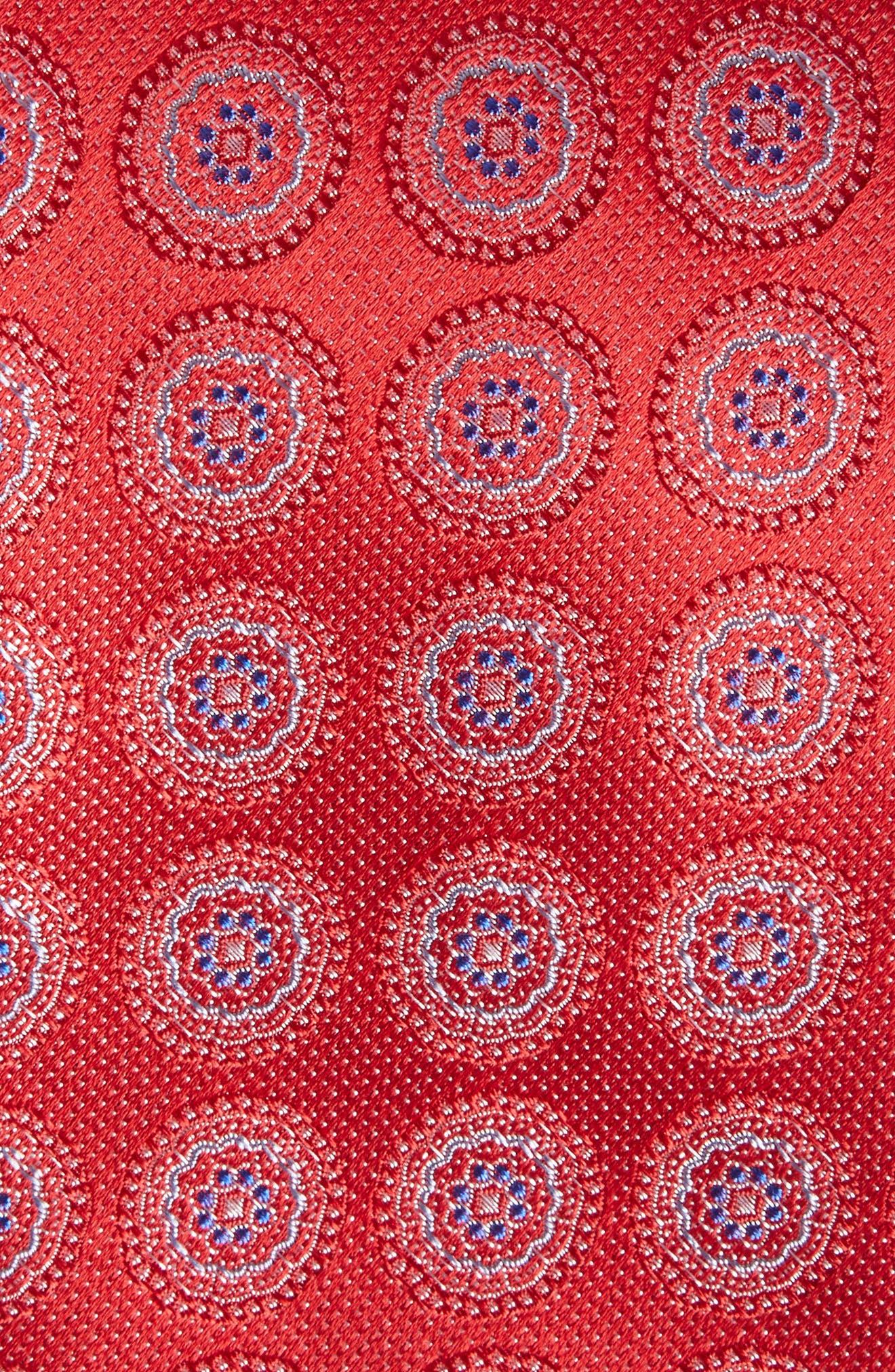 Pinpoint Medallion Silk Tie,                             Alternate thumbnail 11, color,