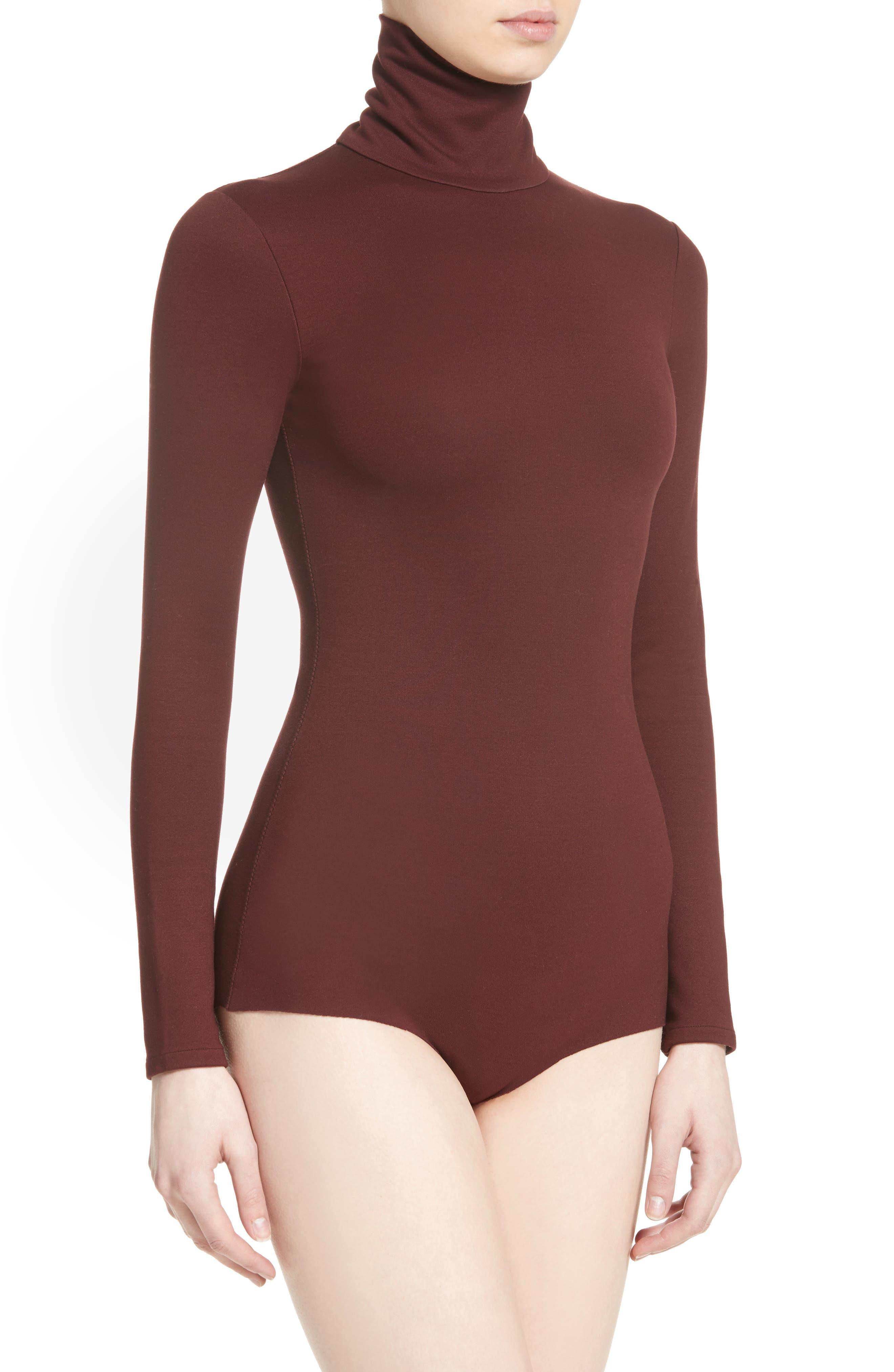 Jersey Turtleneck Bodysuit,                             Alternate thumbnail 2, color,                             930