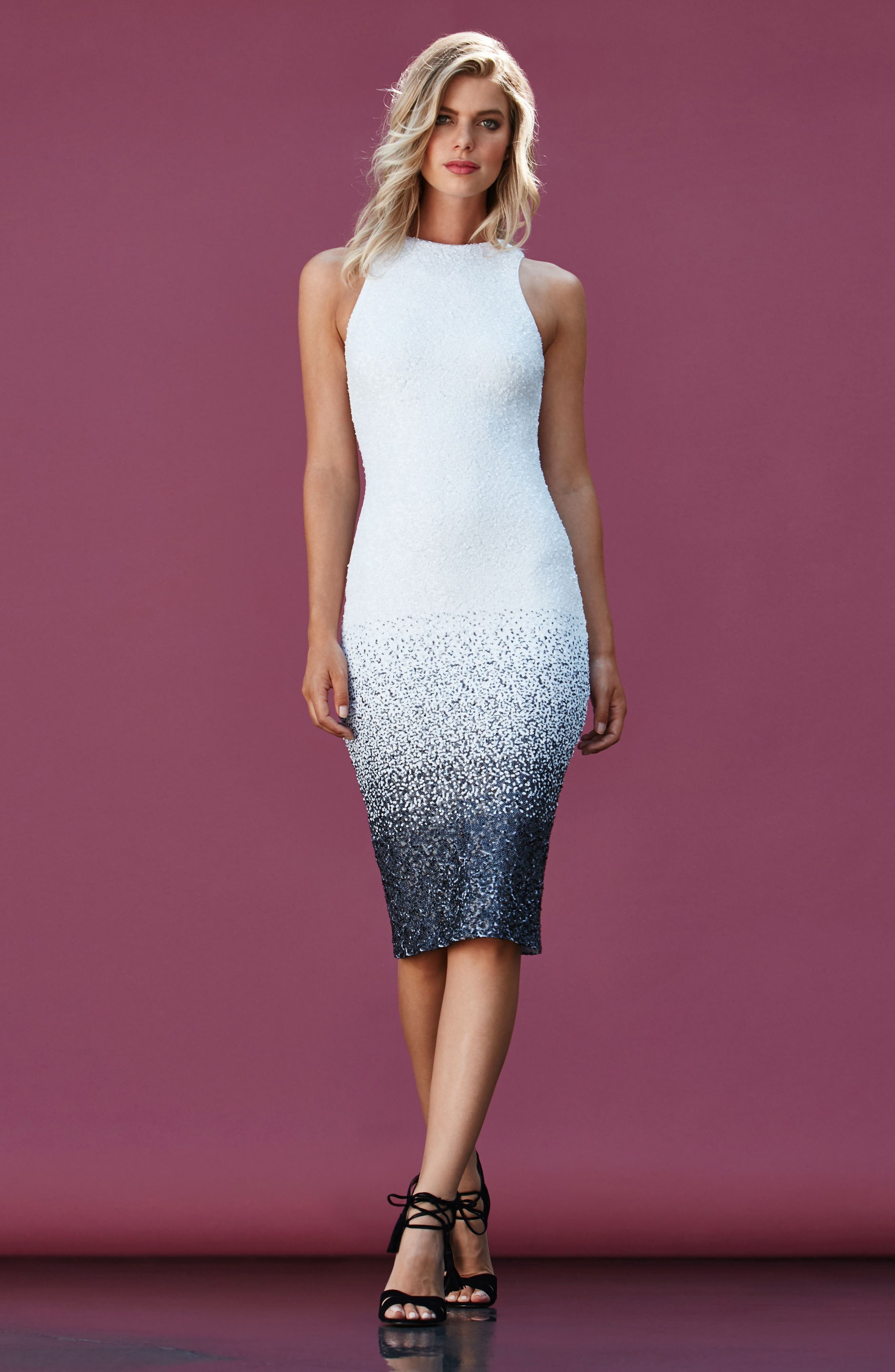 Shawn Sequin Midi Dress,                             Alternate thumbnail 6, color,                             121