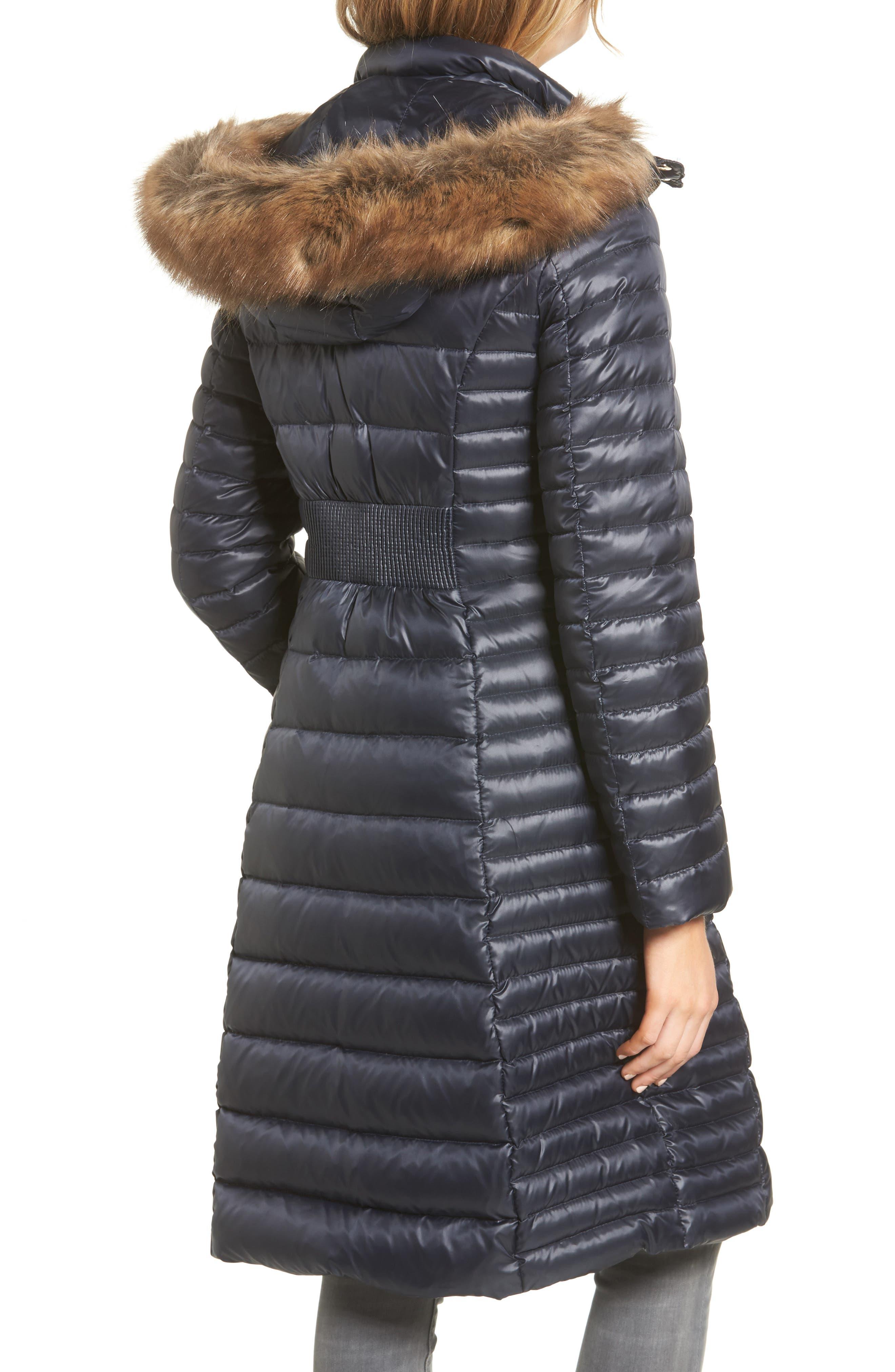 down puffer coat with faux fur trim,                             Alternate thumbnail 9, color,