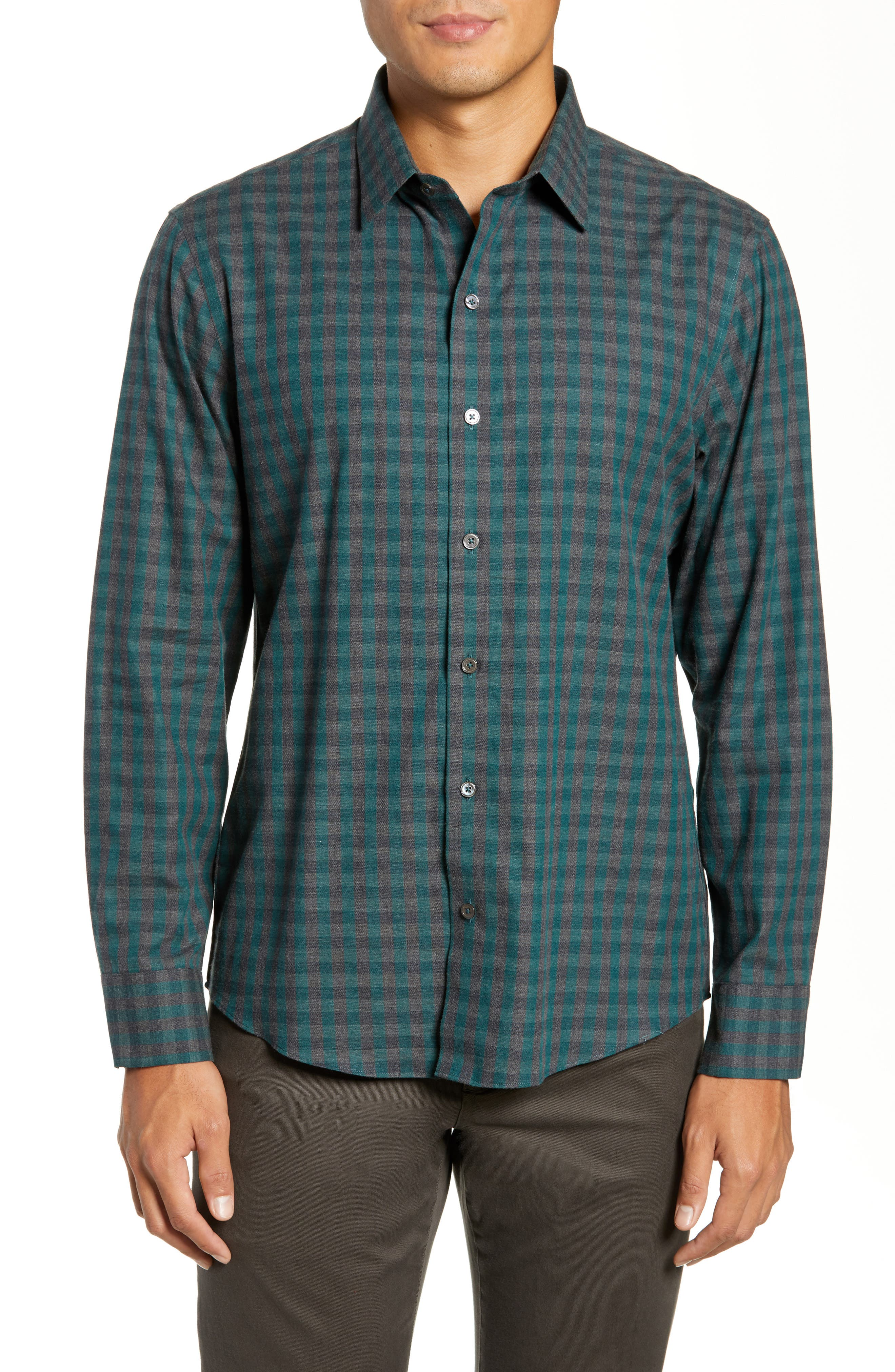 Lieberman Regular Fit Check Sport Shirt,                         Main,                         color, NAVY