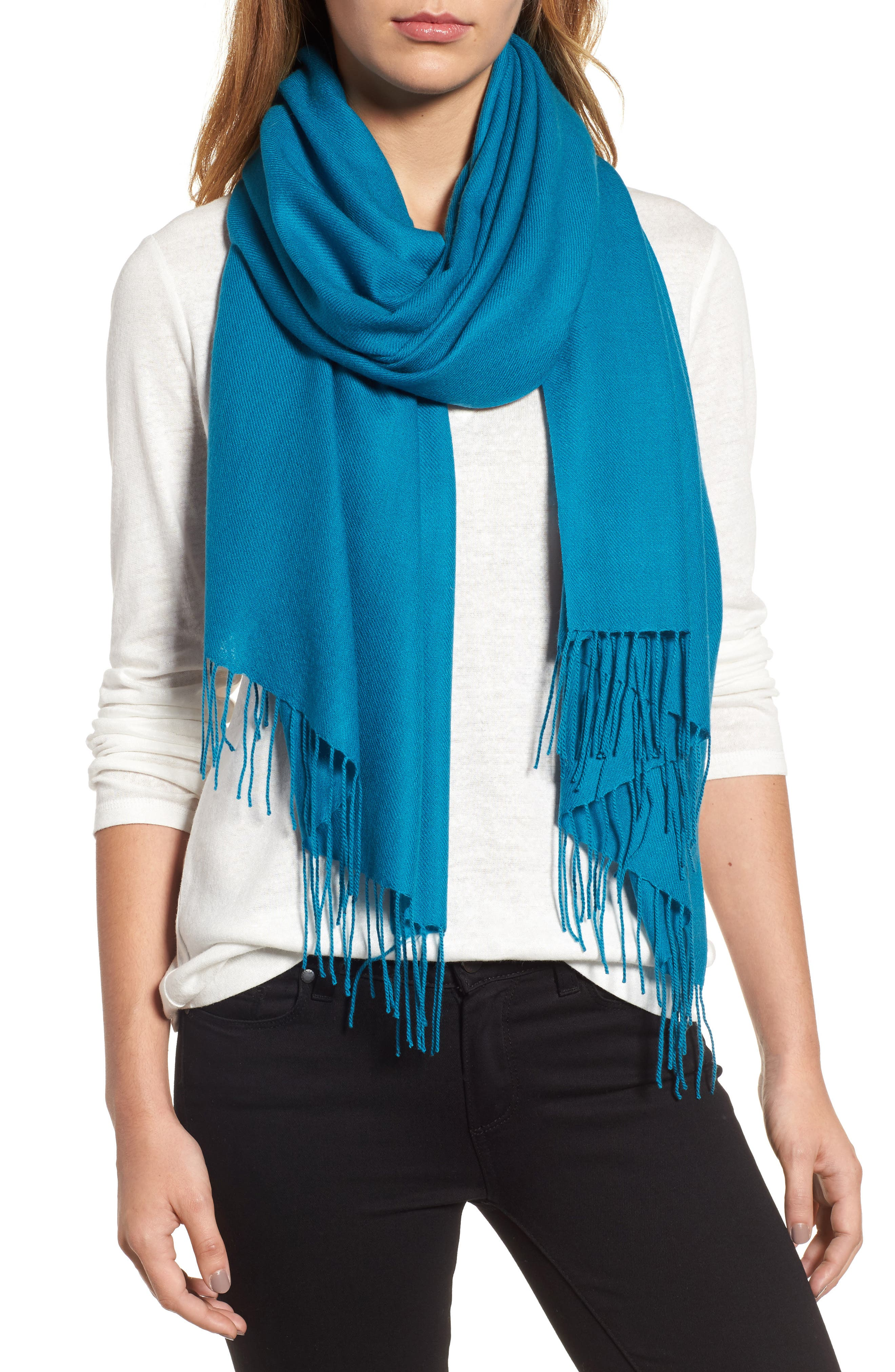 Tissue Weight Wool & Cashmere Scarf,                             Alternate thumbnail 106, color,