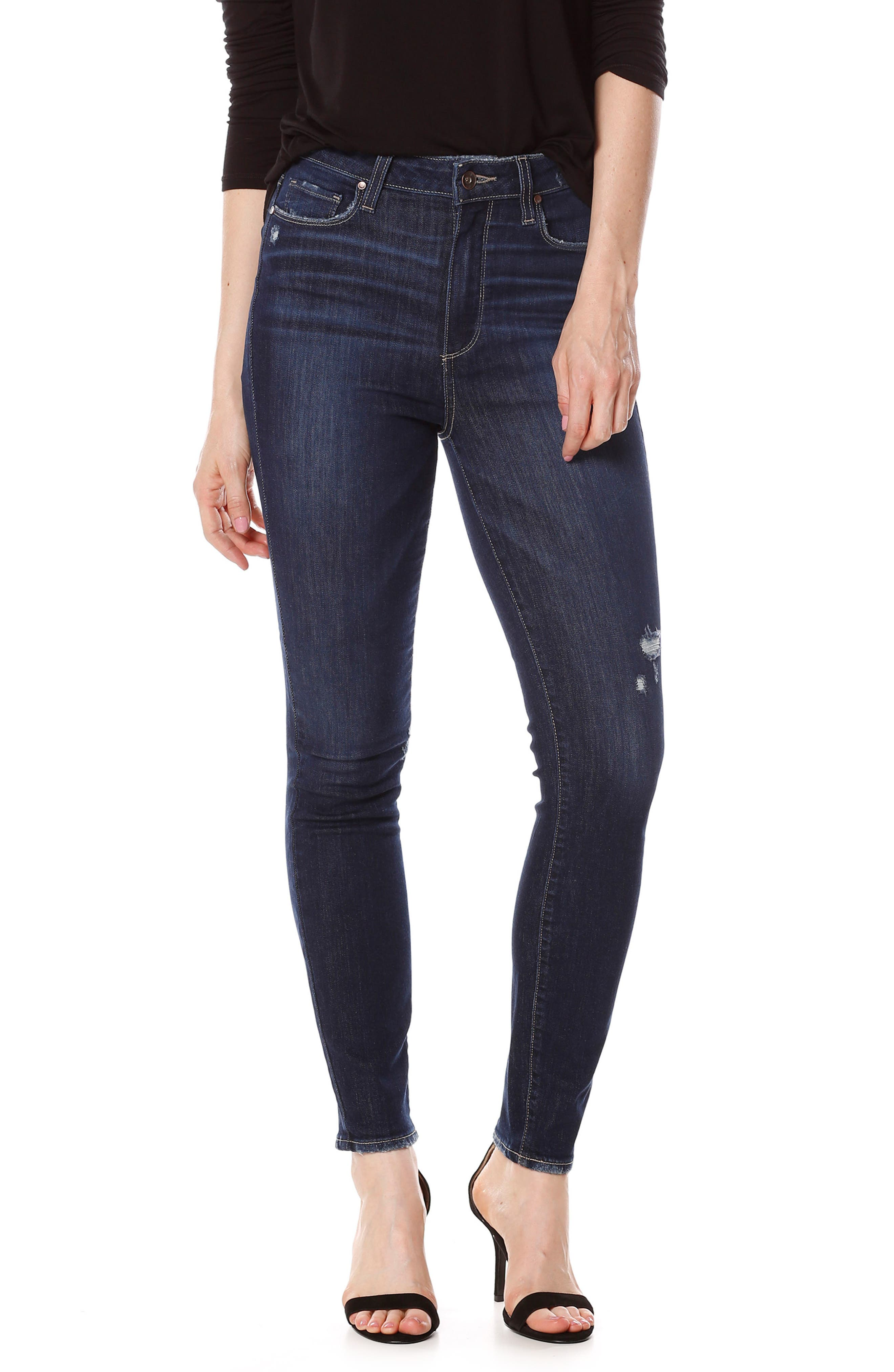 Margot High Waist Ankle Skinny Jeans,                             Main thumbnail 1, color,                             400