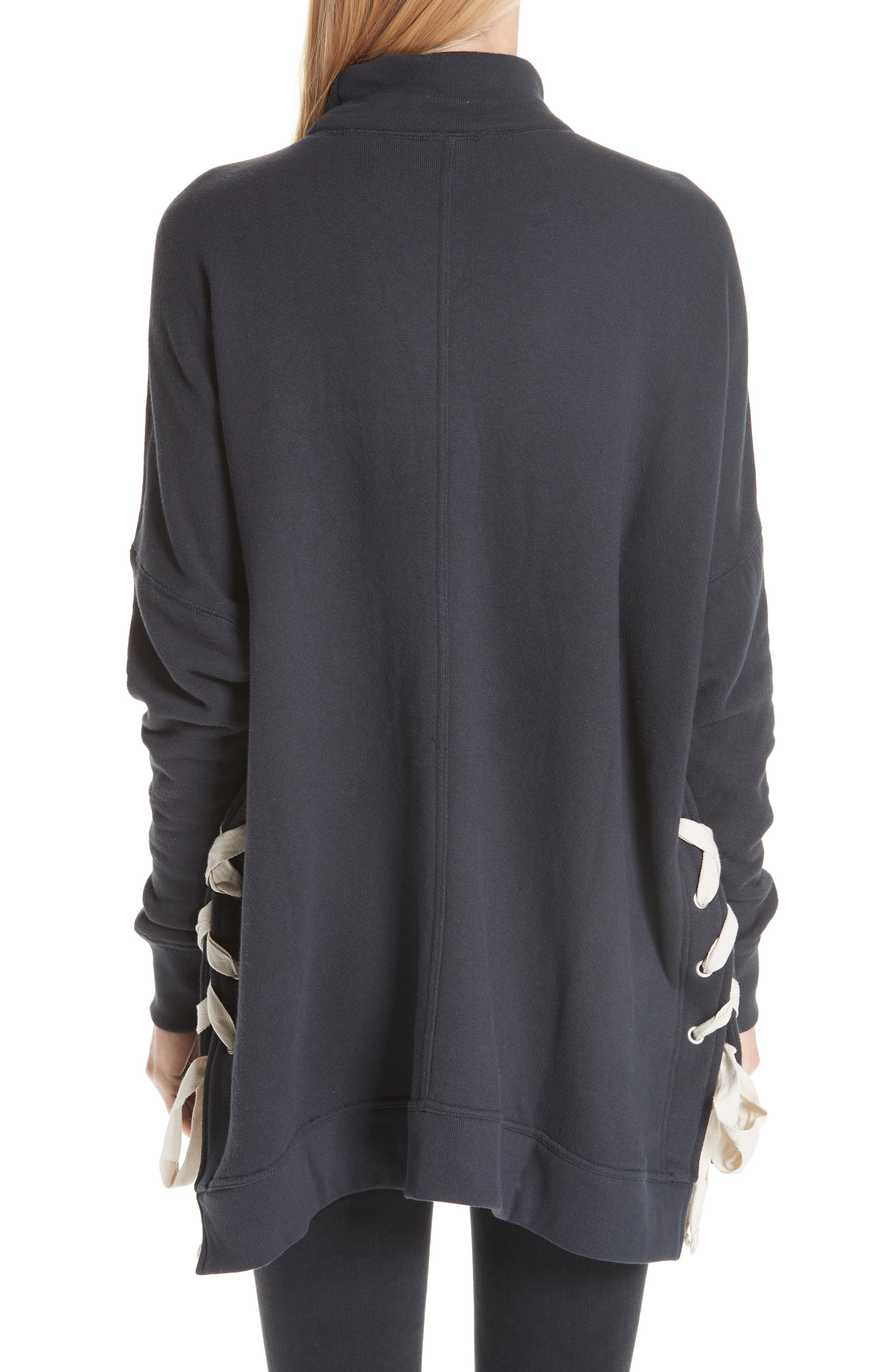 So Plush Lace-Up Pullover,                             Alternate thumbnail 2, color,                             001