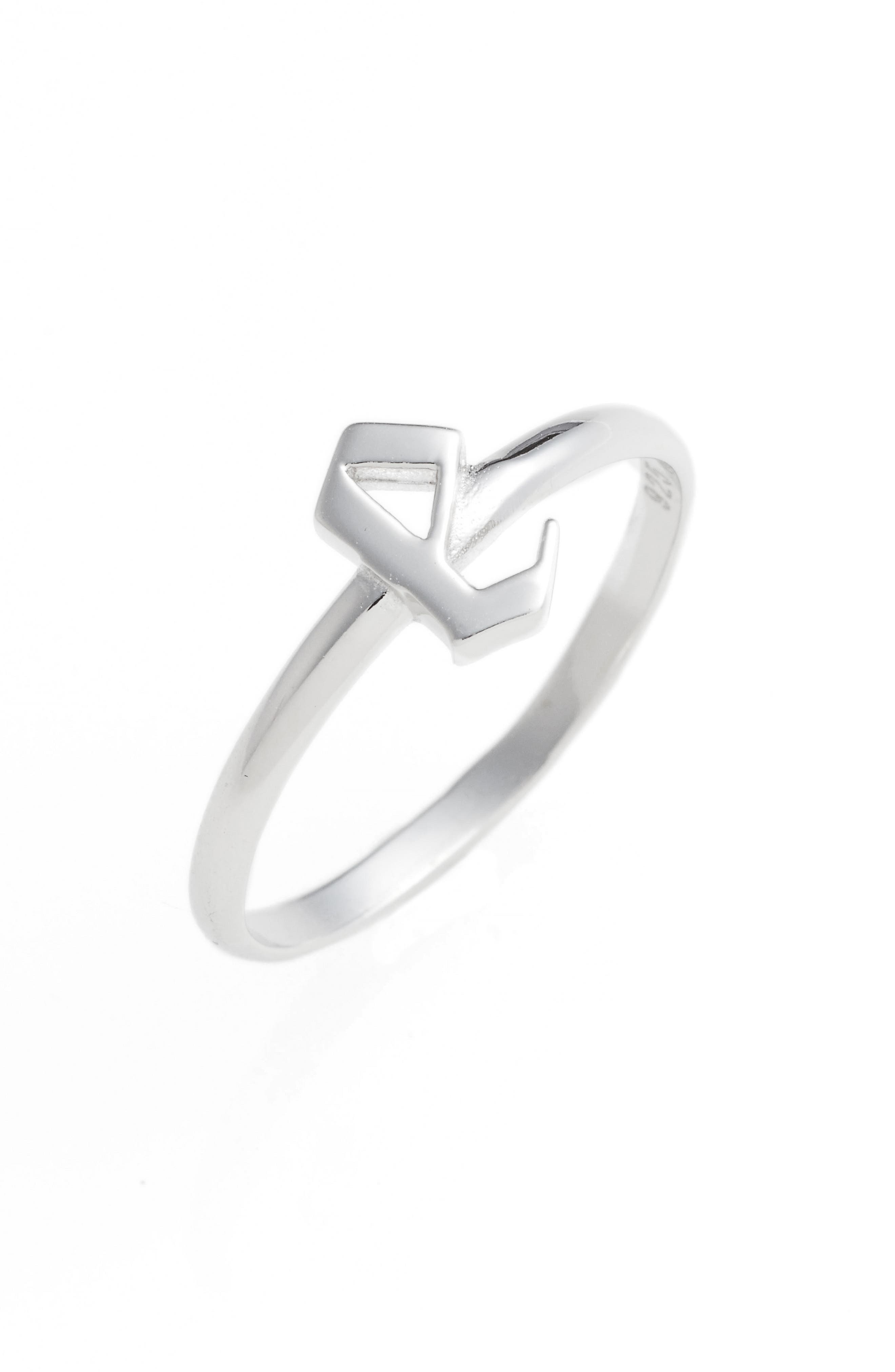Gothic Initial Ring,                             Main thumbnail 5, color,