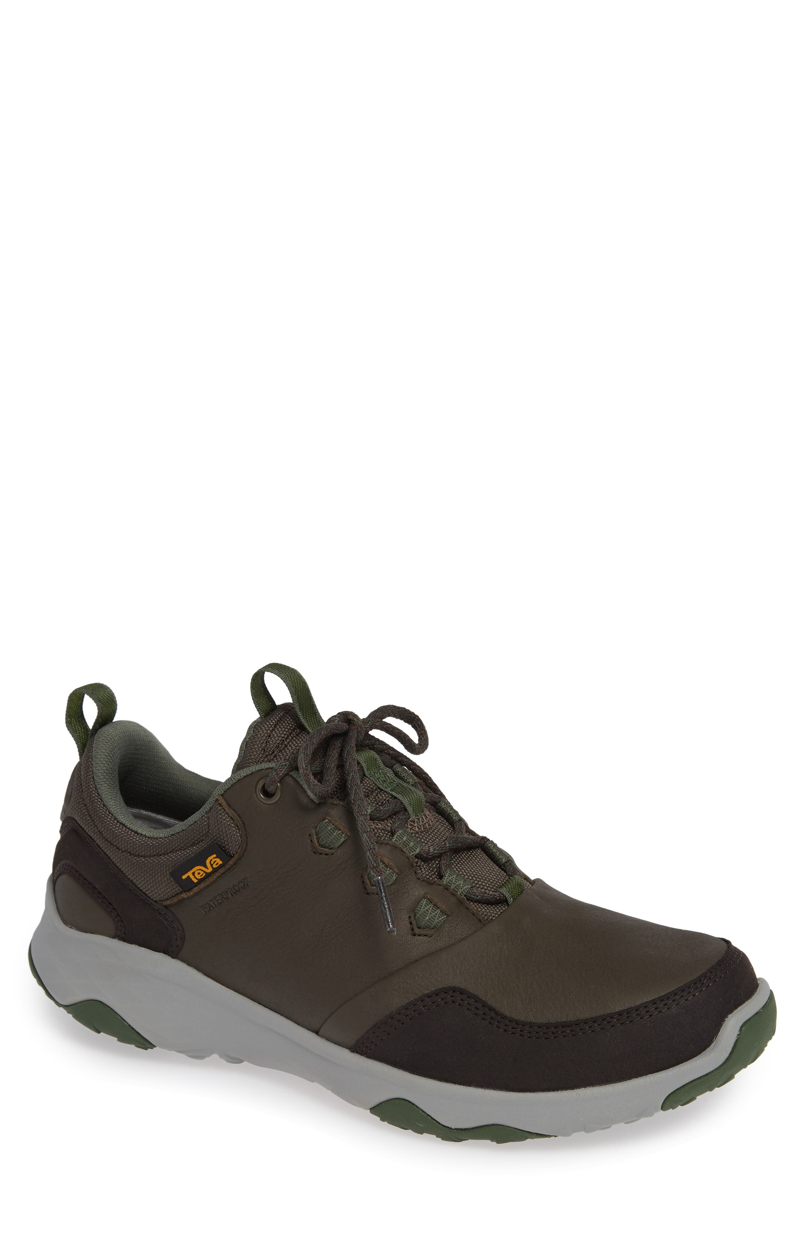 Arrowood Waterproof Sneaker,                             Main thumbnail 1, color,                             BLACK OLIVE LEATHER
