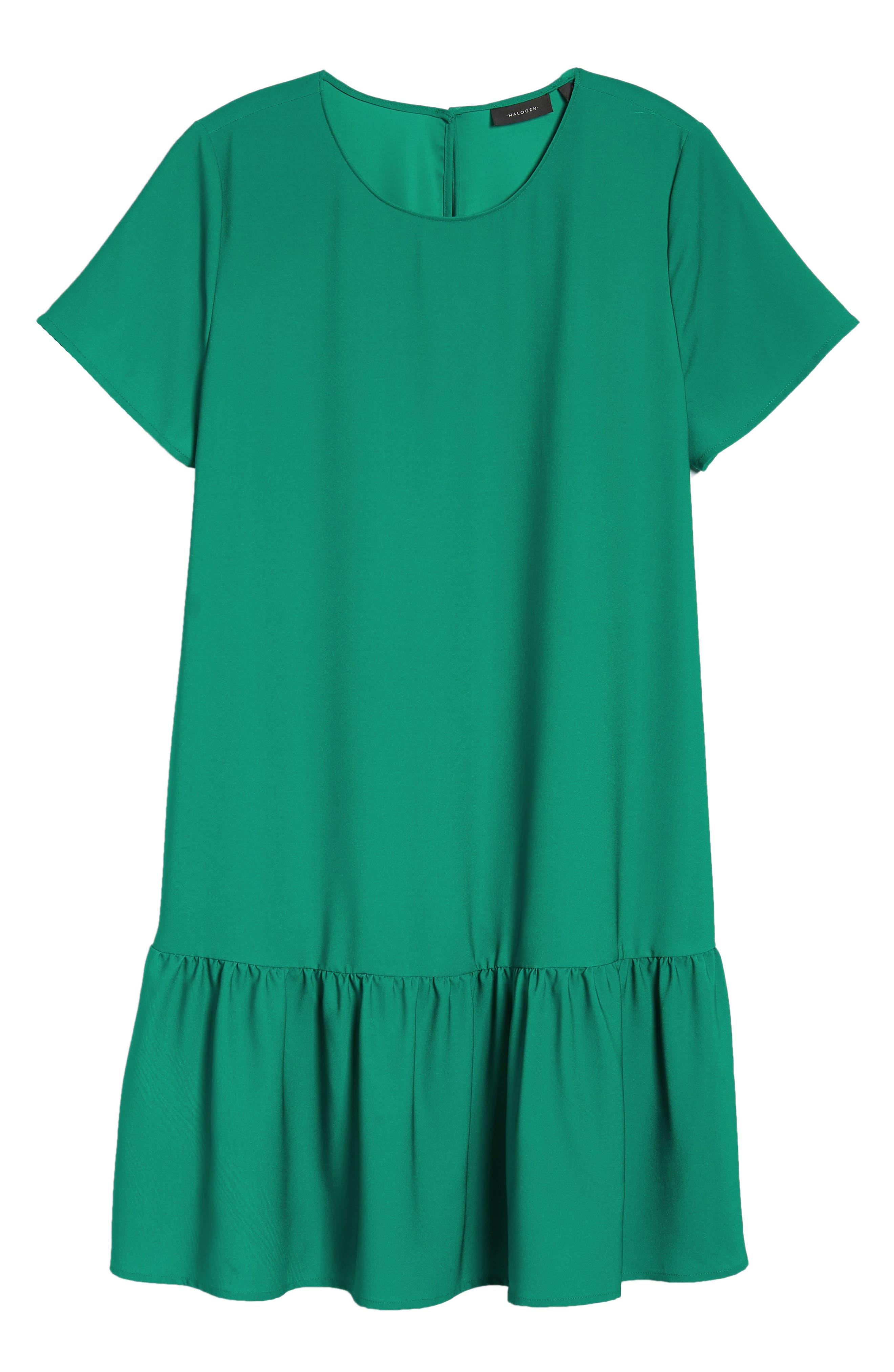 Short Sleeve Ruffle Hem Dress,                             Alternate thumbnail 39, color,