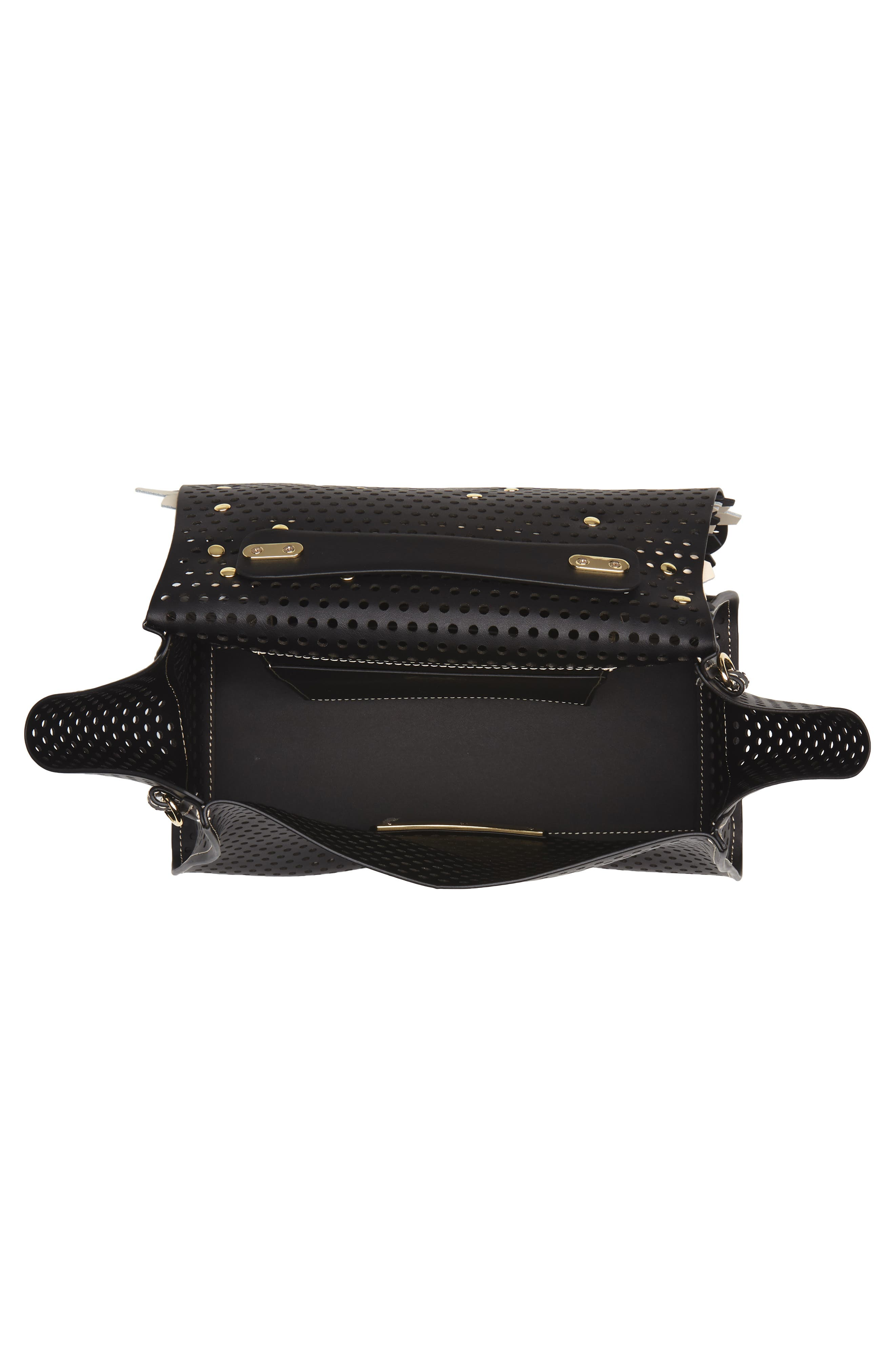 Eartha Kit Calfskin Leather Top Handle Satchel,                             Alternate thumbnail 7, color,