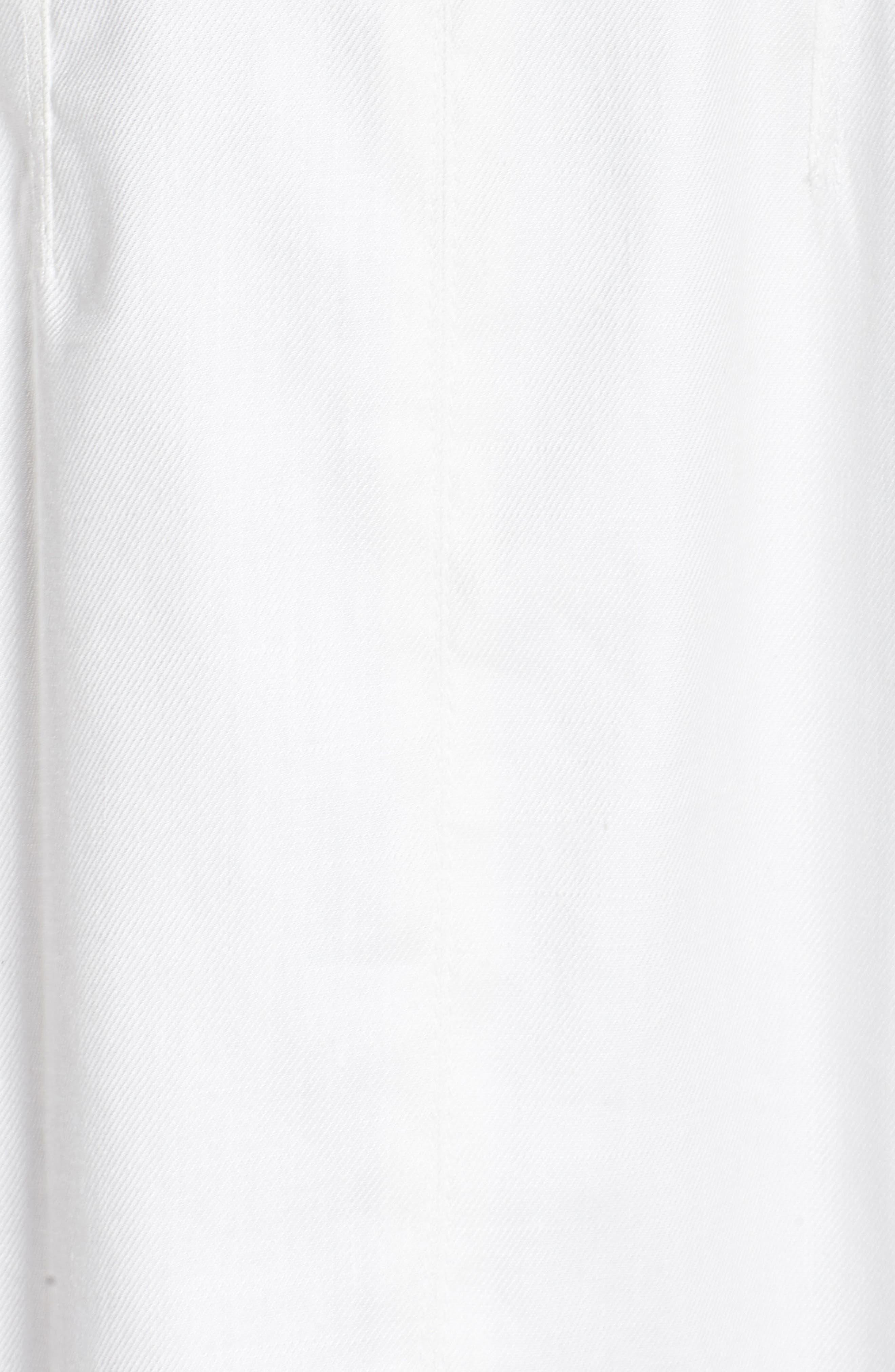 Zip Front Linen Blend Dress,                             Alternate thumbnail 6, color,                             WHITE
