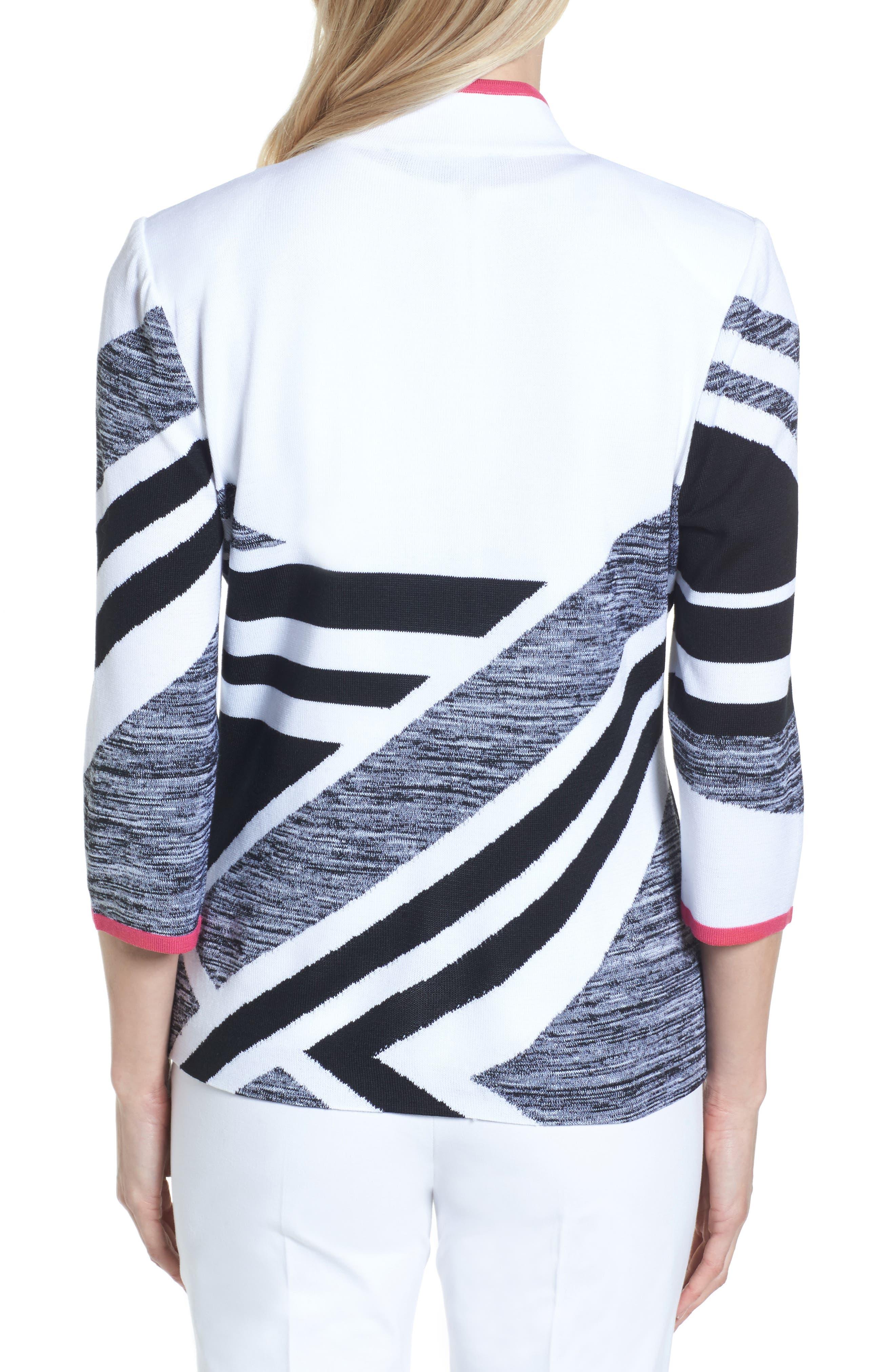 Geometric Knit Jacket,                             Alternate thumbnail 2, color,
