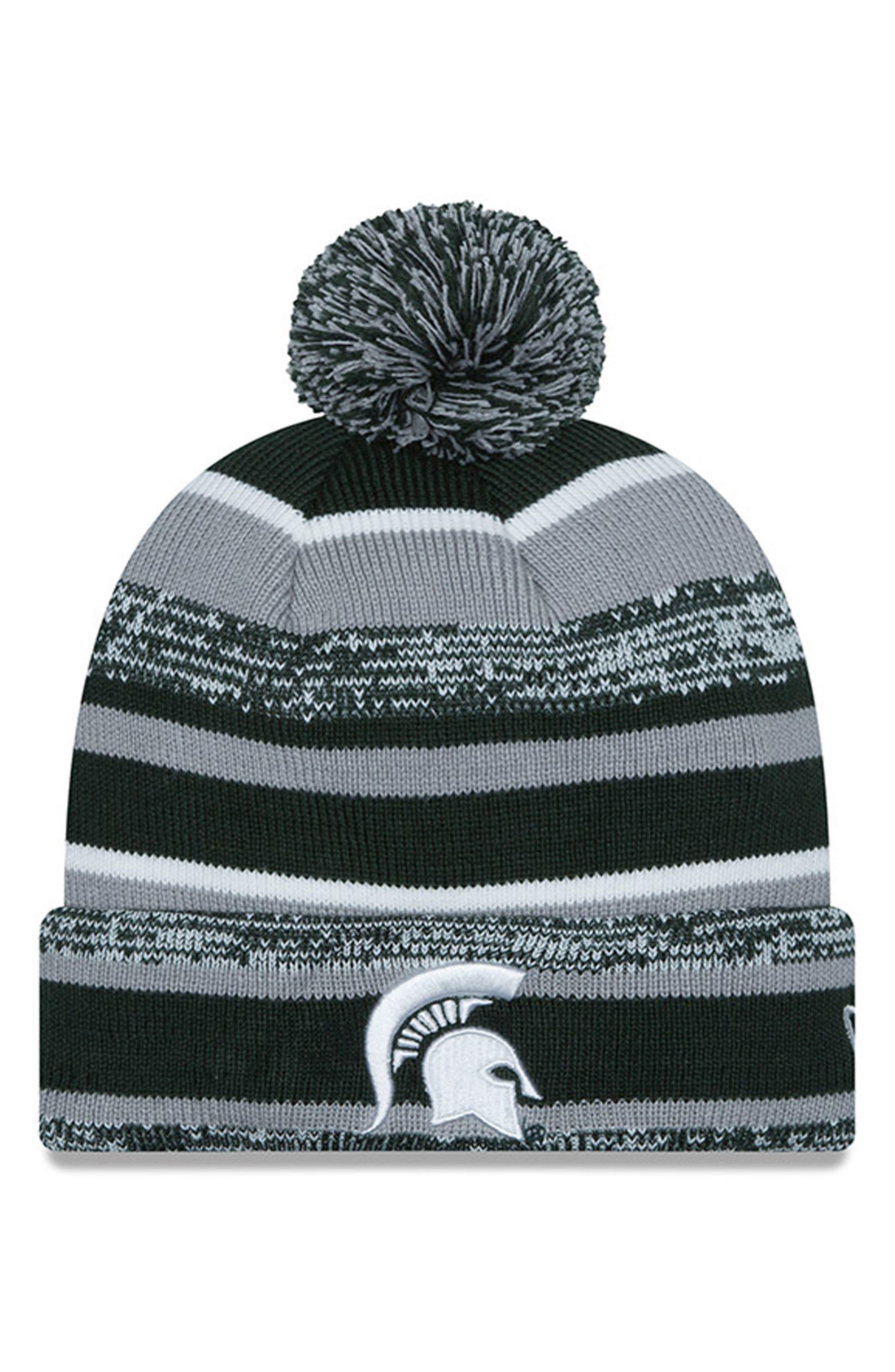 Collegiate Logo Knit Beanie,                         Main,                         color, 301