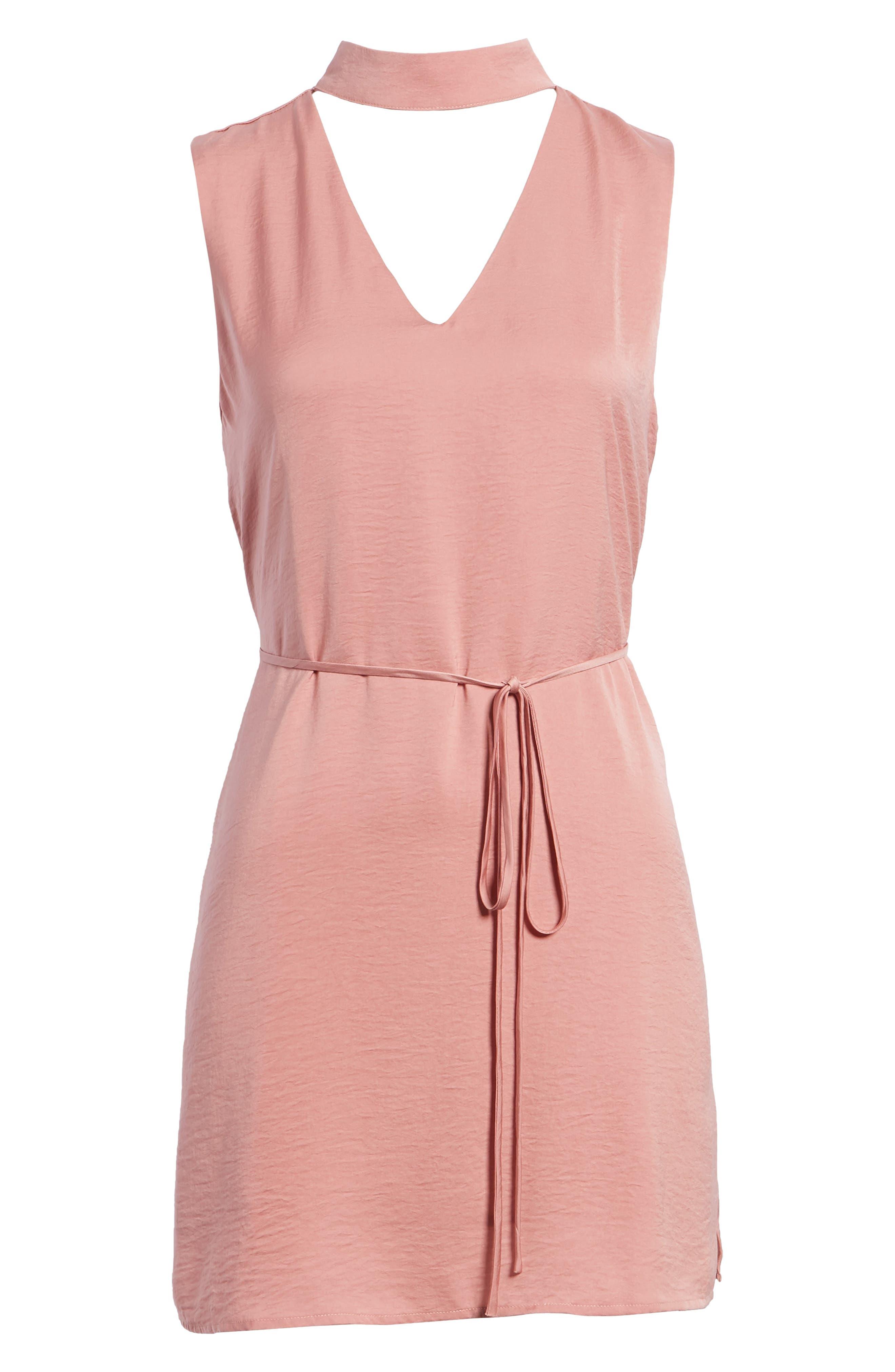 Hansel Sleeveless Dress,                             Alternate thumbnail 7, color,                             FADED ROSE