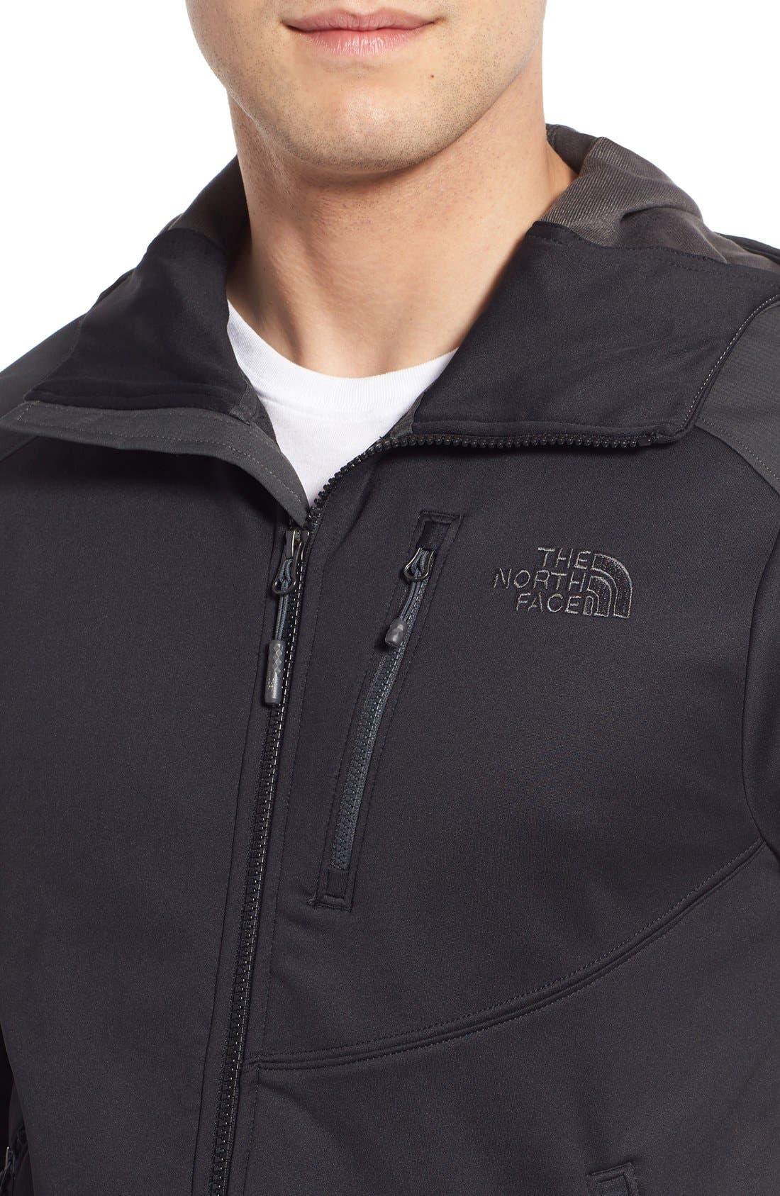 Tenacious Active Fit Hooded Jacket,                             Alternate thumbnail 4, color,                             010