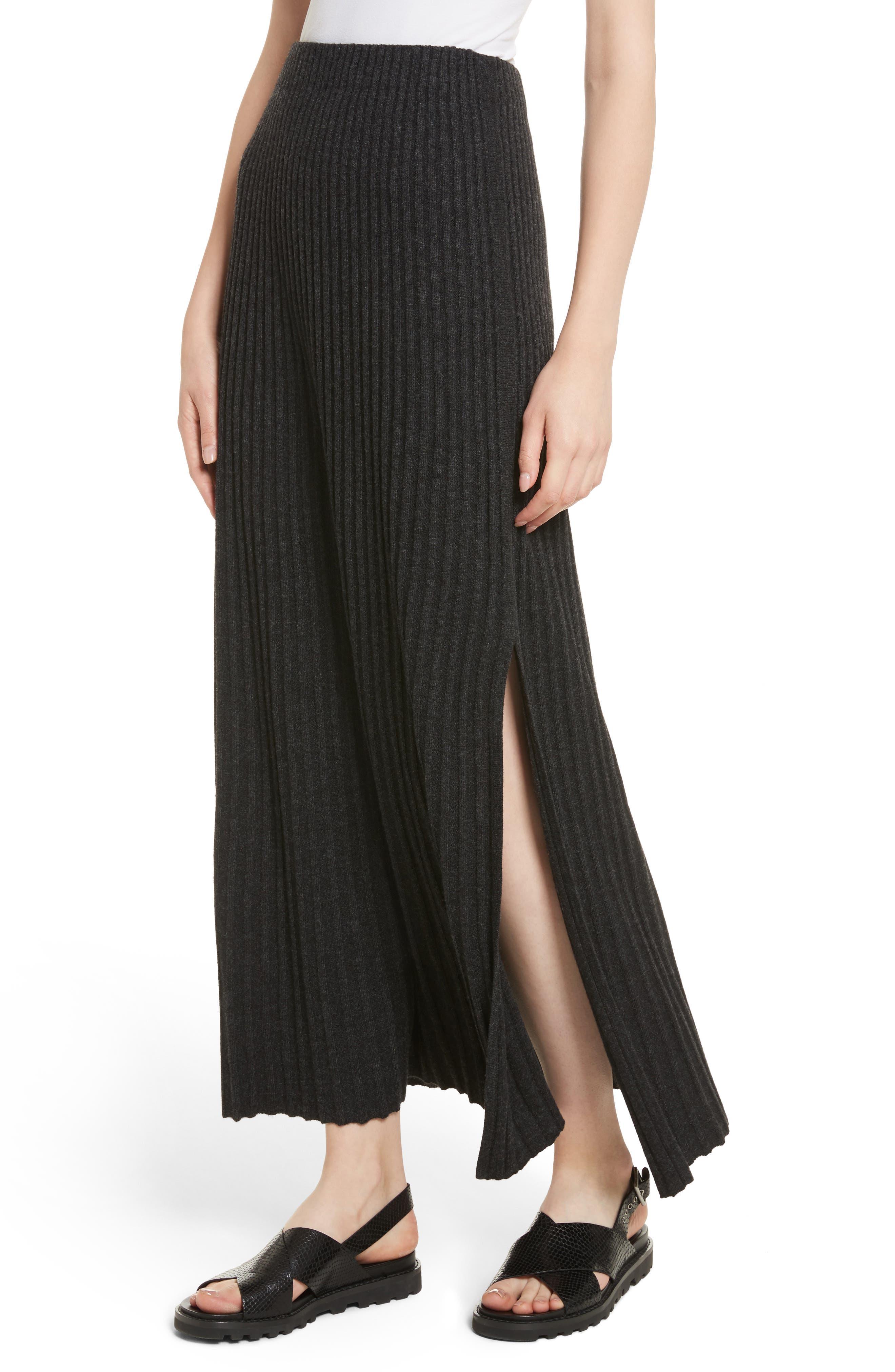 Joelle Rib Knit Maxi Skirt,                             Alternate thumbnail 4, color,                             020