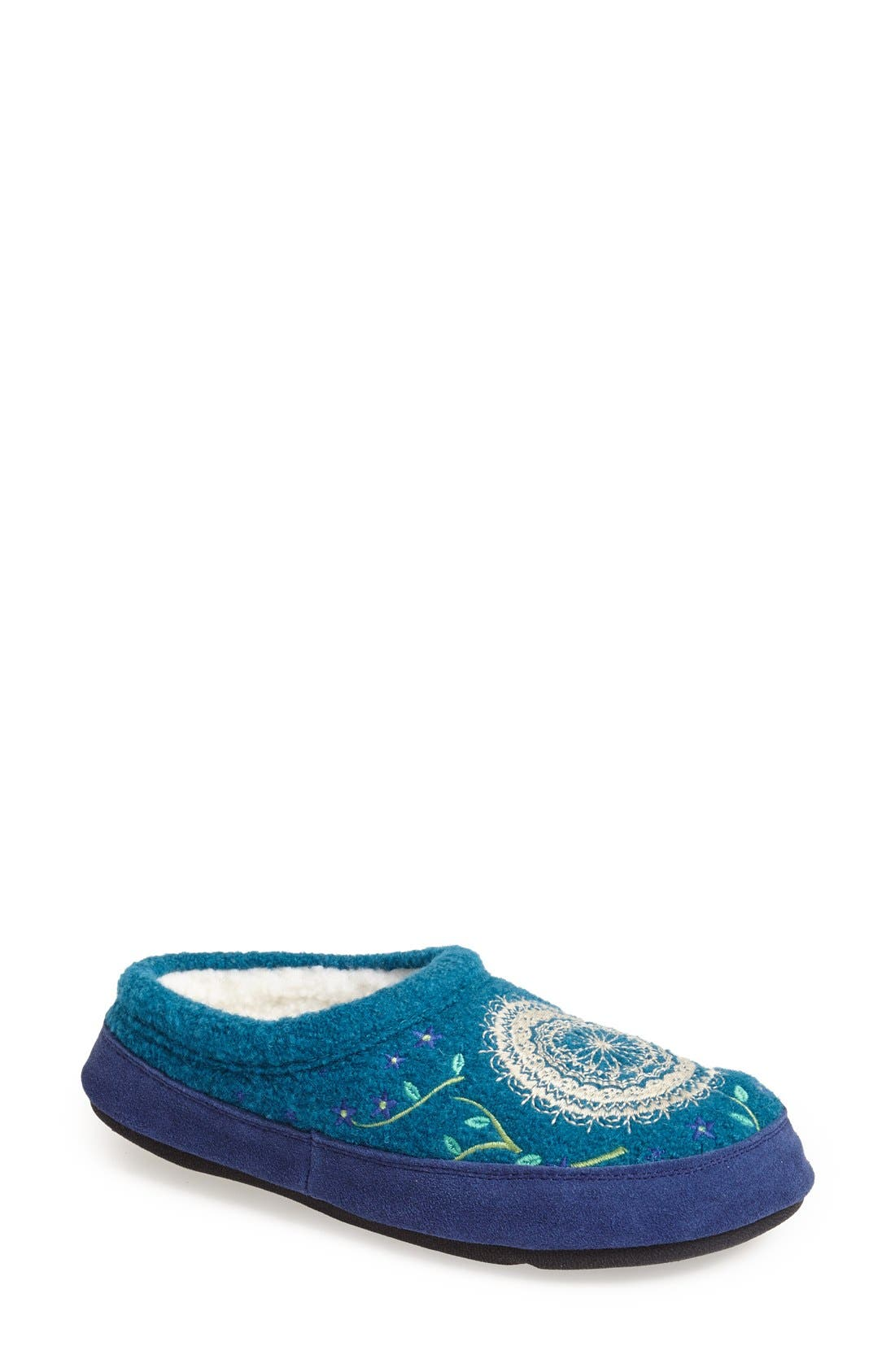 'Forest' Wool Mule Slipper,                             Main thumbnail 4, color,