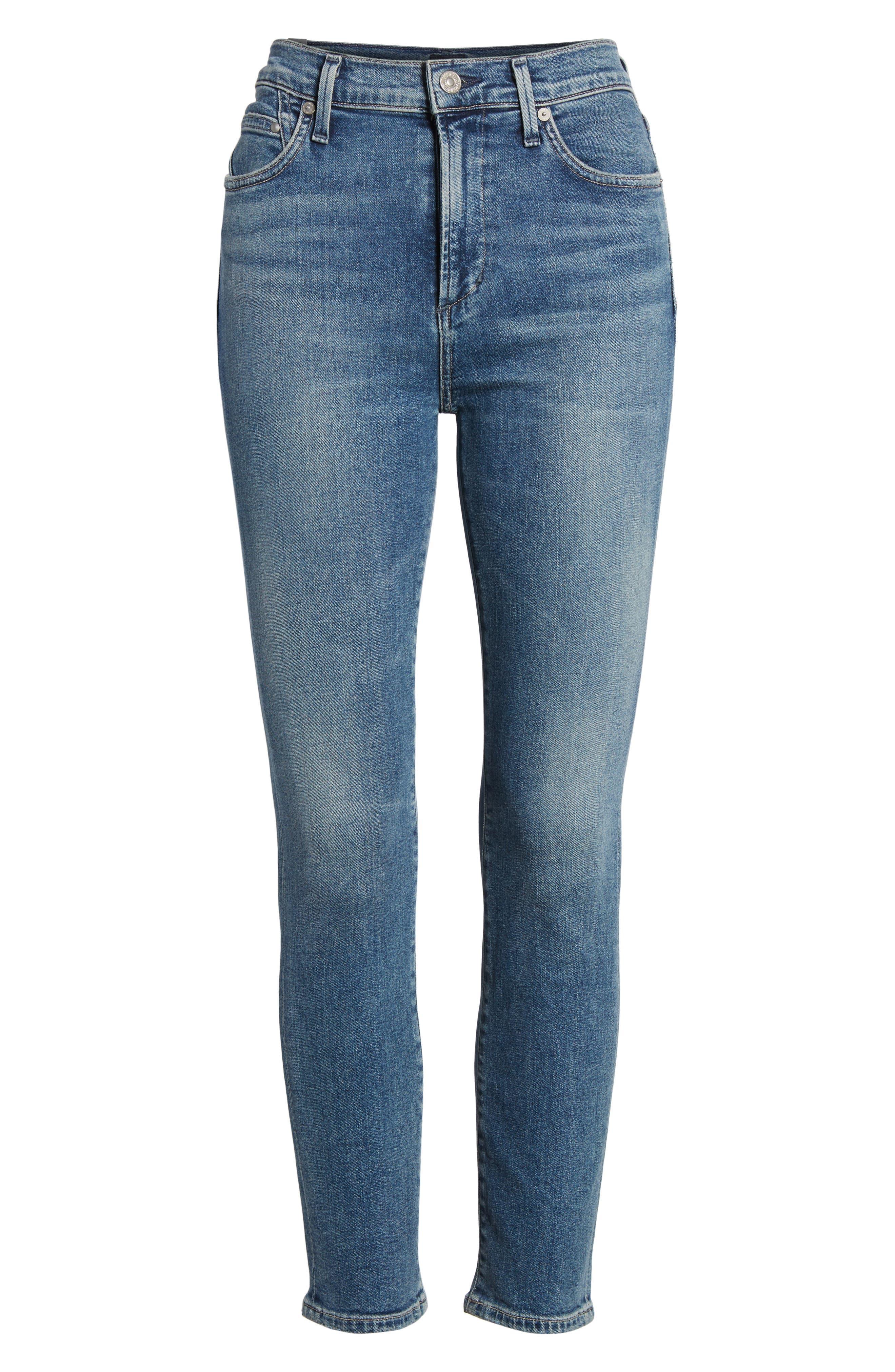 Rocket Crop Skinny Jeans,                             Alternate thumbnail 7, color,