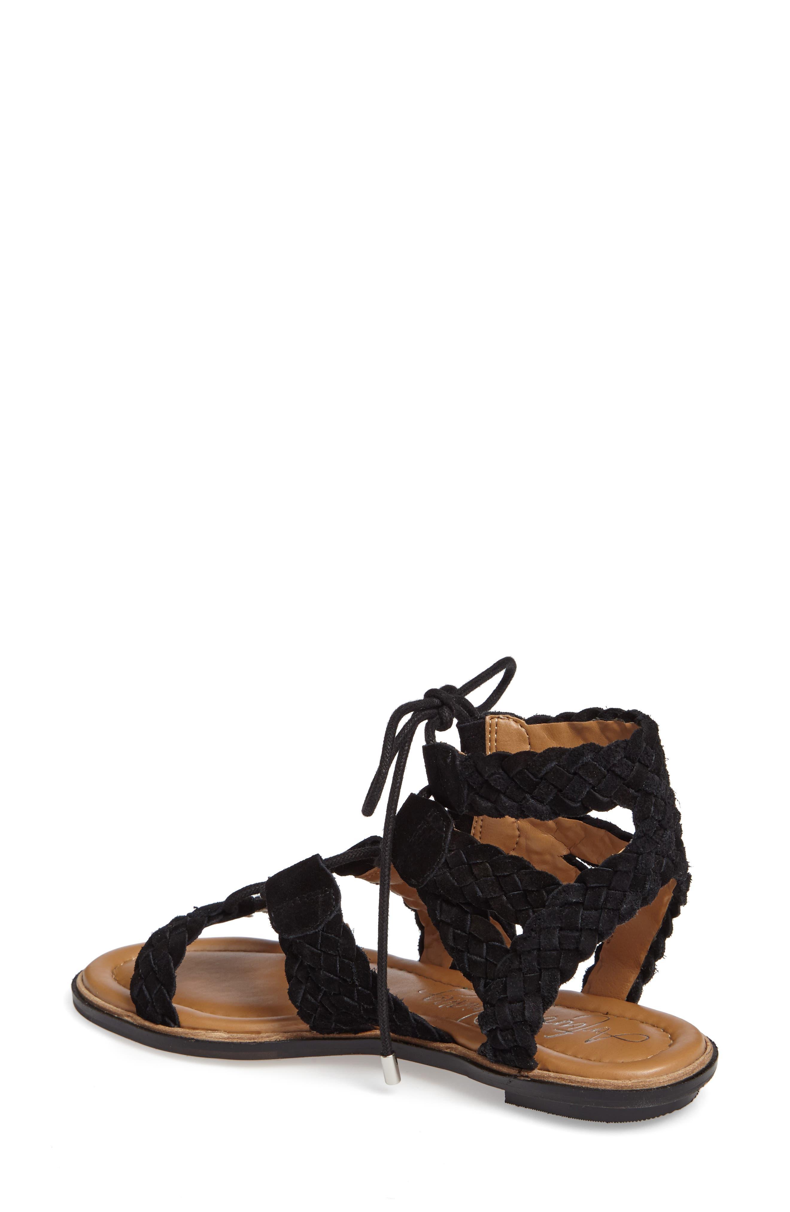Cassie Lace-Up Sandal,                             Alternate thumbnail 2, color,                             001