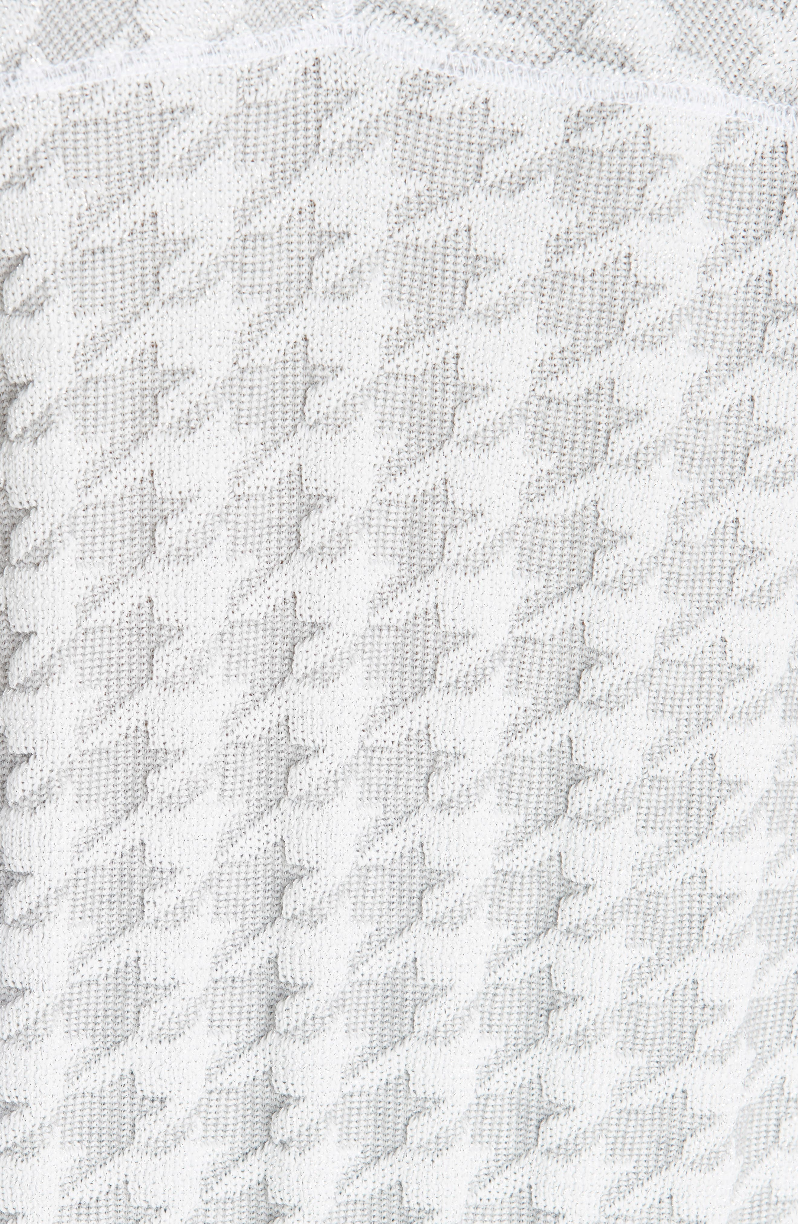 Houndstooth Sweatshirt,                             Alternate thumbnail 5, color,                             100