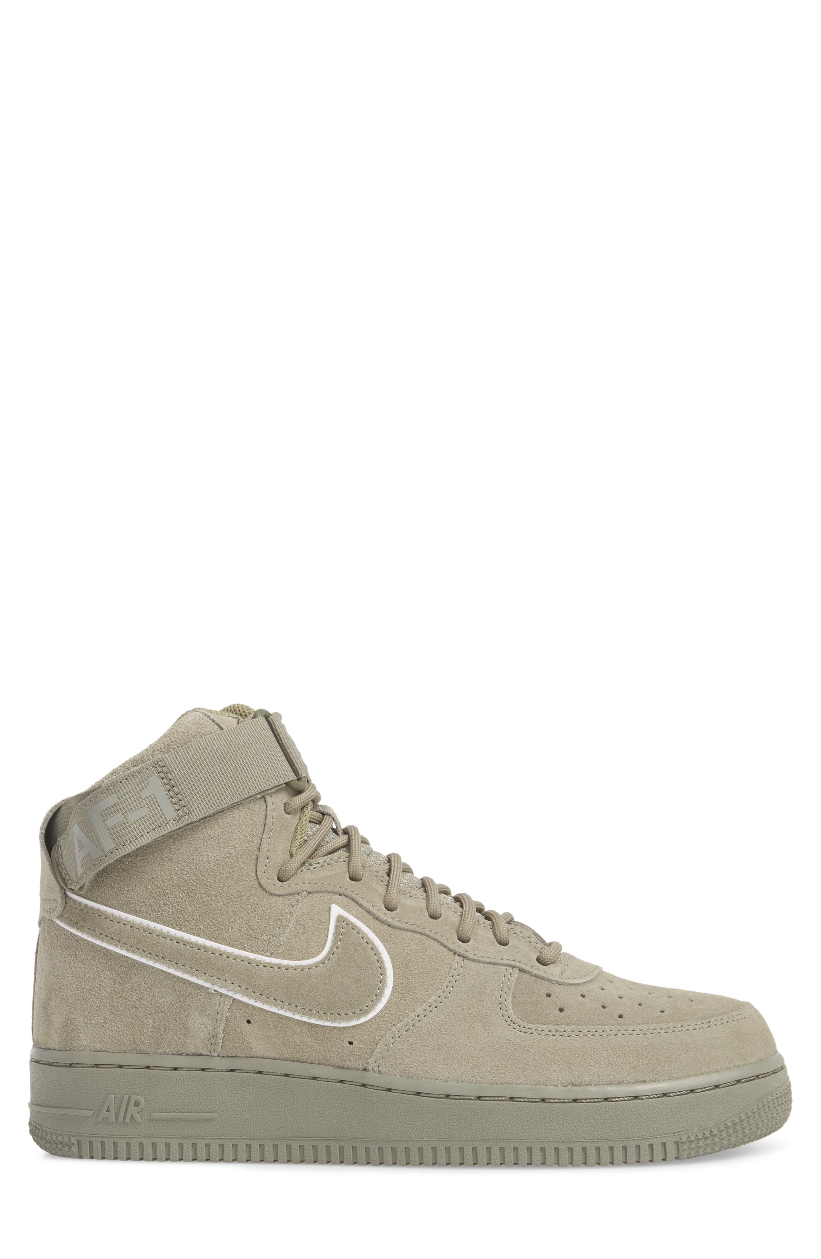 Air Force 1 High '07 LV8 Suede Sneaker,                             Alternate thumbnail 6, color,