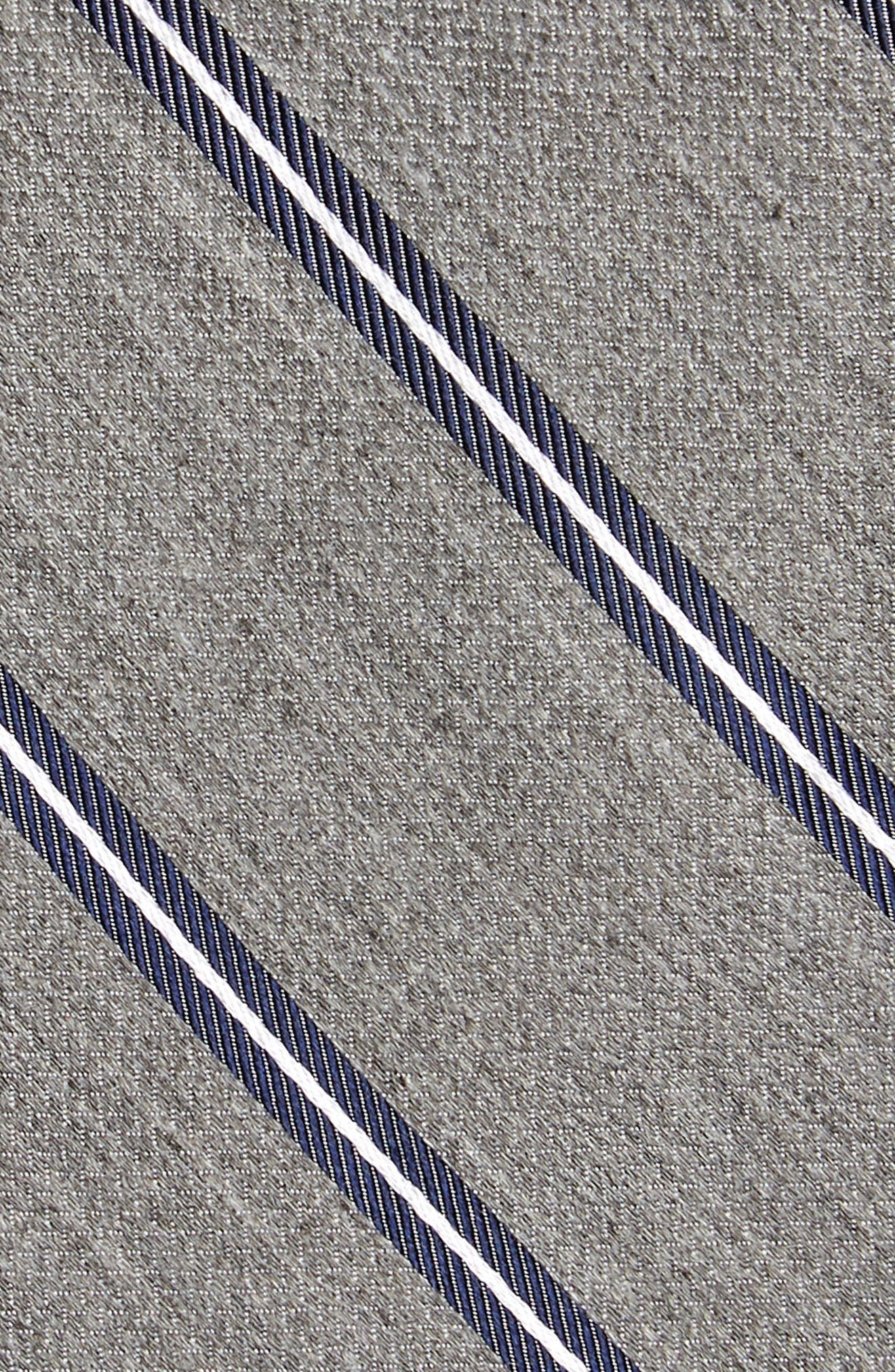 Edinger Stripe Silk & Cotton Tie,                             Alternate thumbnail 8, color,