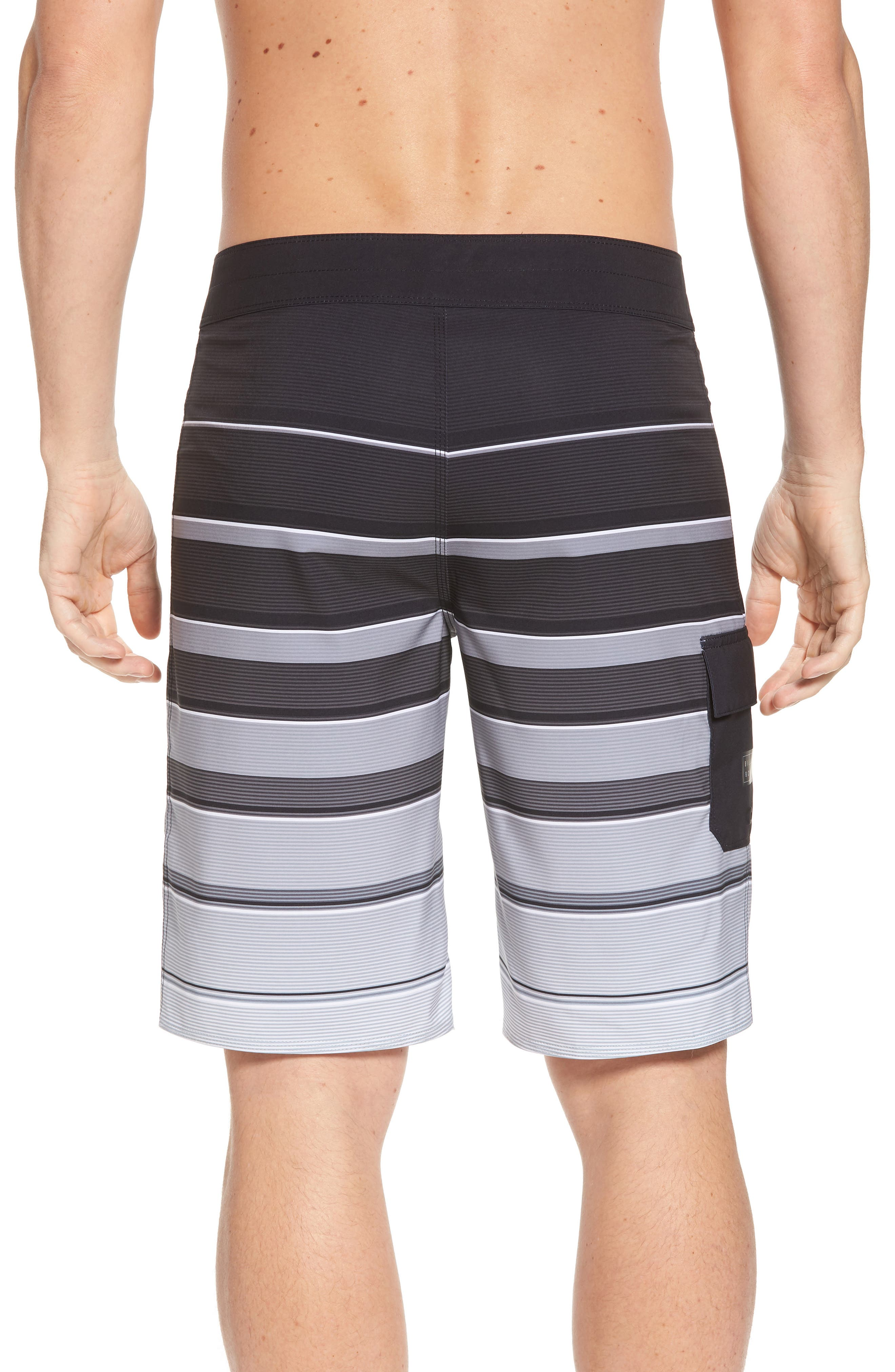 All Day X Stripe Board Shorts,                             Alternate thumbnail 2, color,                             001