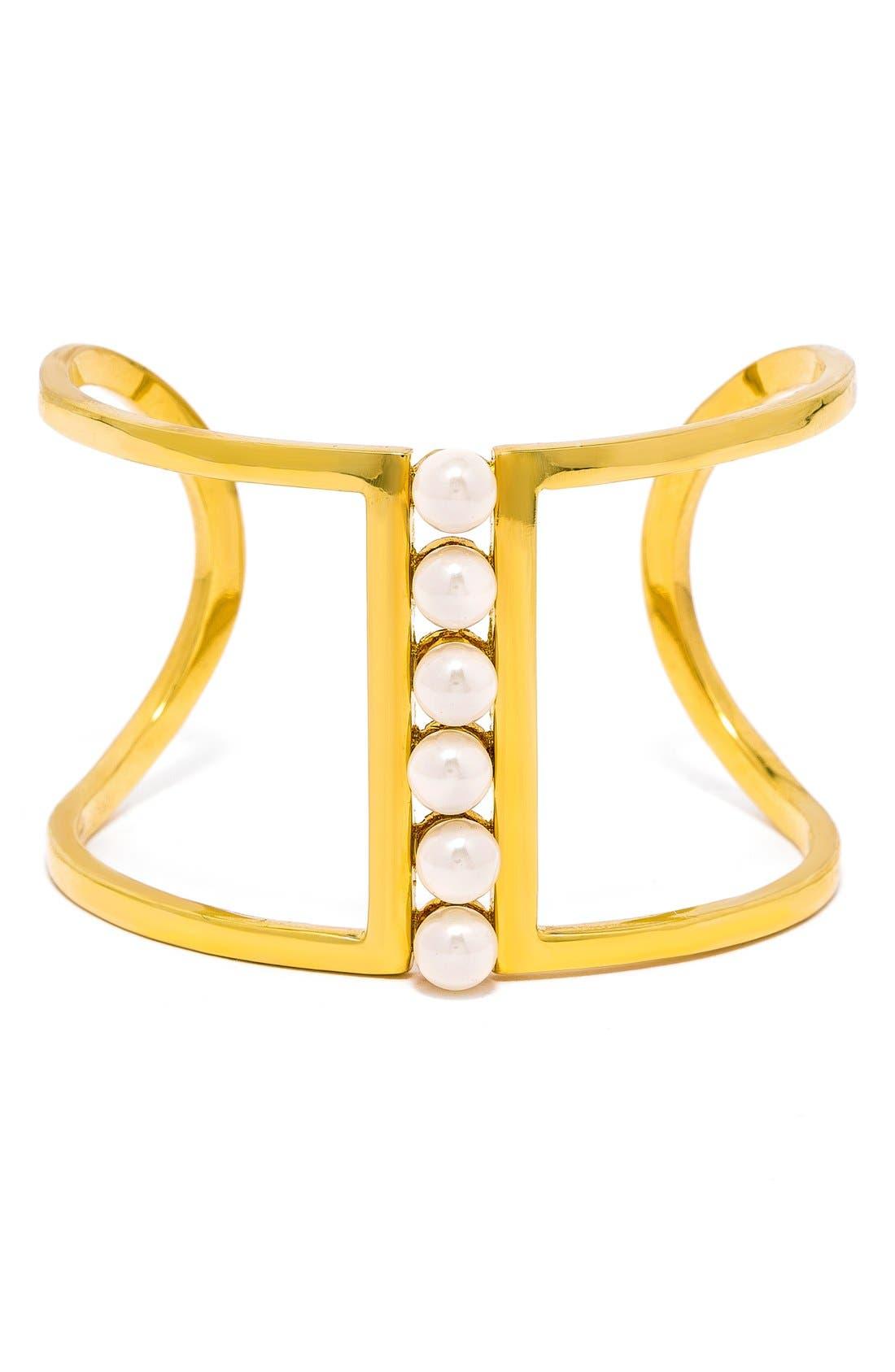'Sextet' Cuff Bracelet,                         Main,                         color, 900