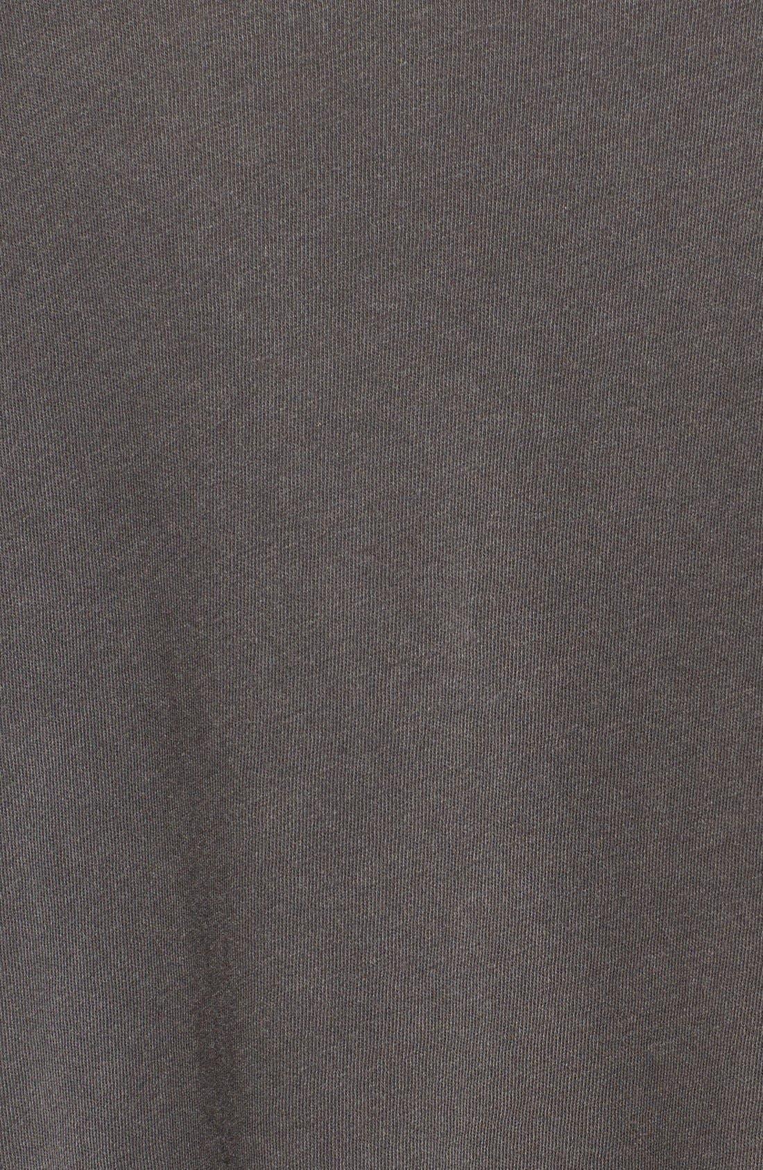 U-Neck Cotton Tee,                             Alternate thumbnail 5, color,                             001