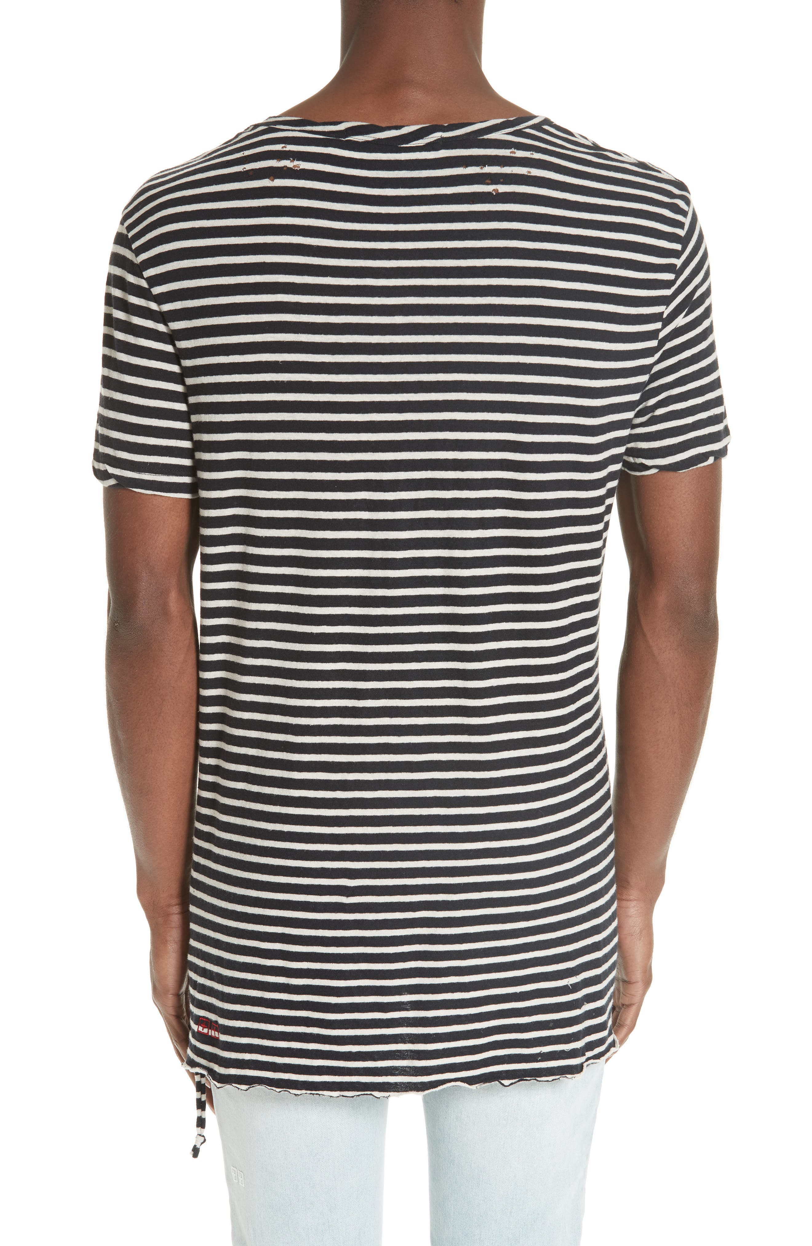 Sinister Distressed Stripe T-Shirt,                             Alternate thumbnail 2, color,                             960