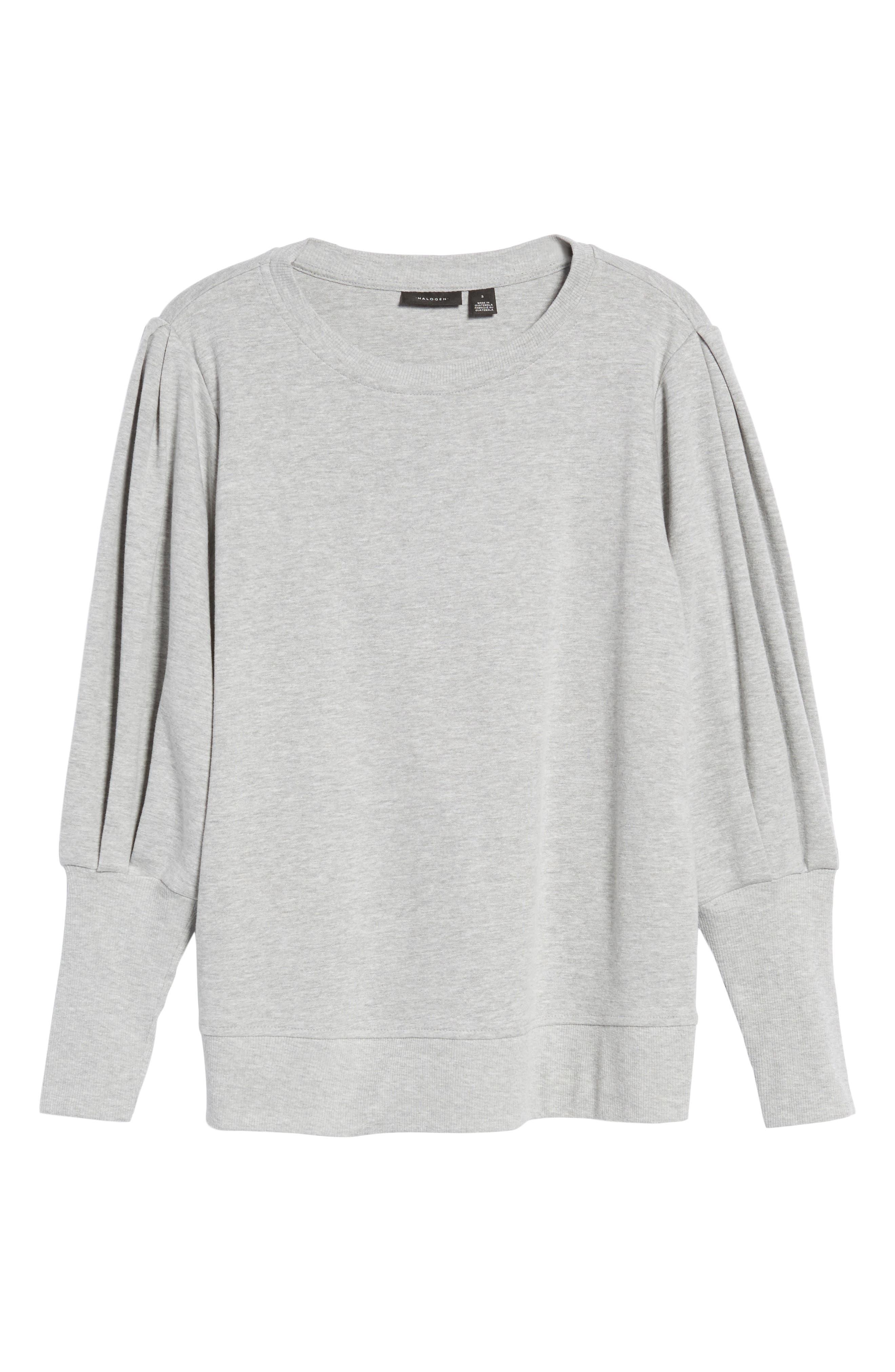Blouson Sleeve Sweatshirt,                             Alternate thumbnail 27, color,