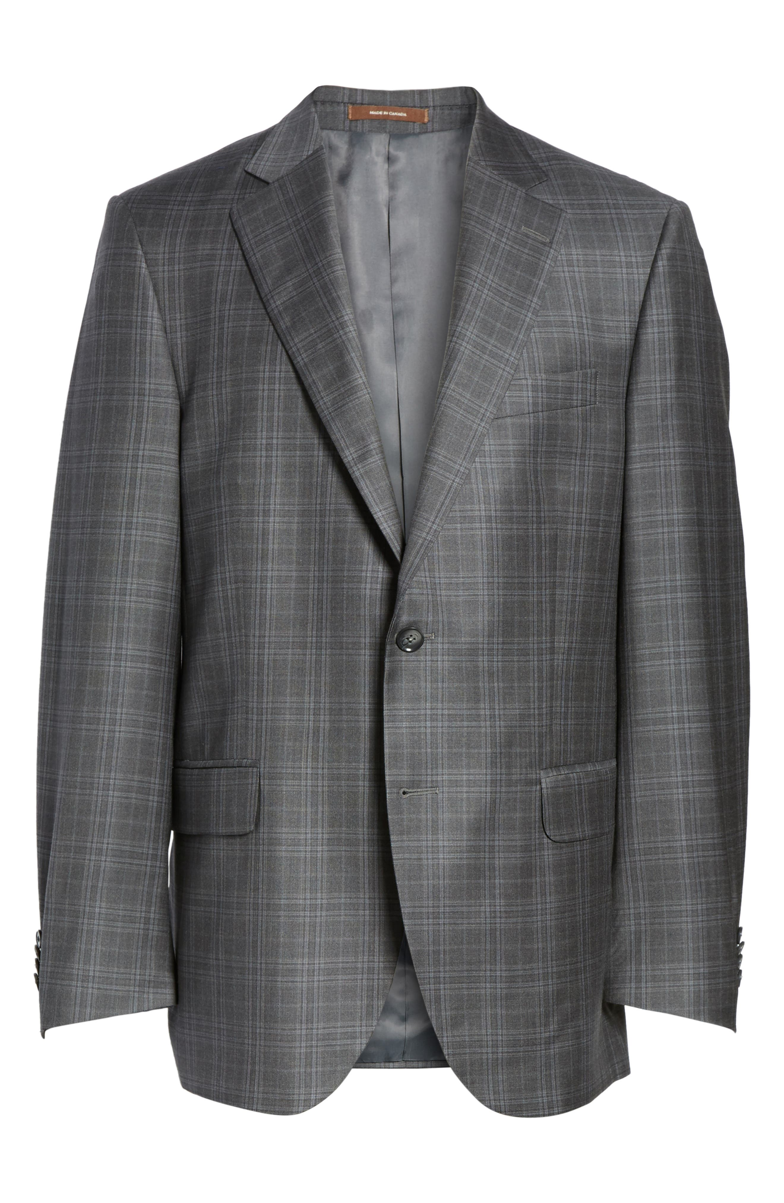 Flynn Classic Fit Plaid Wool Sport Coat,                             Alternate thumbnail 5, color,                             020