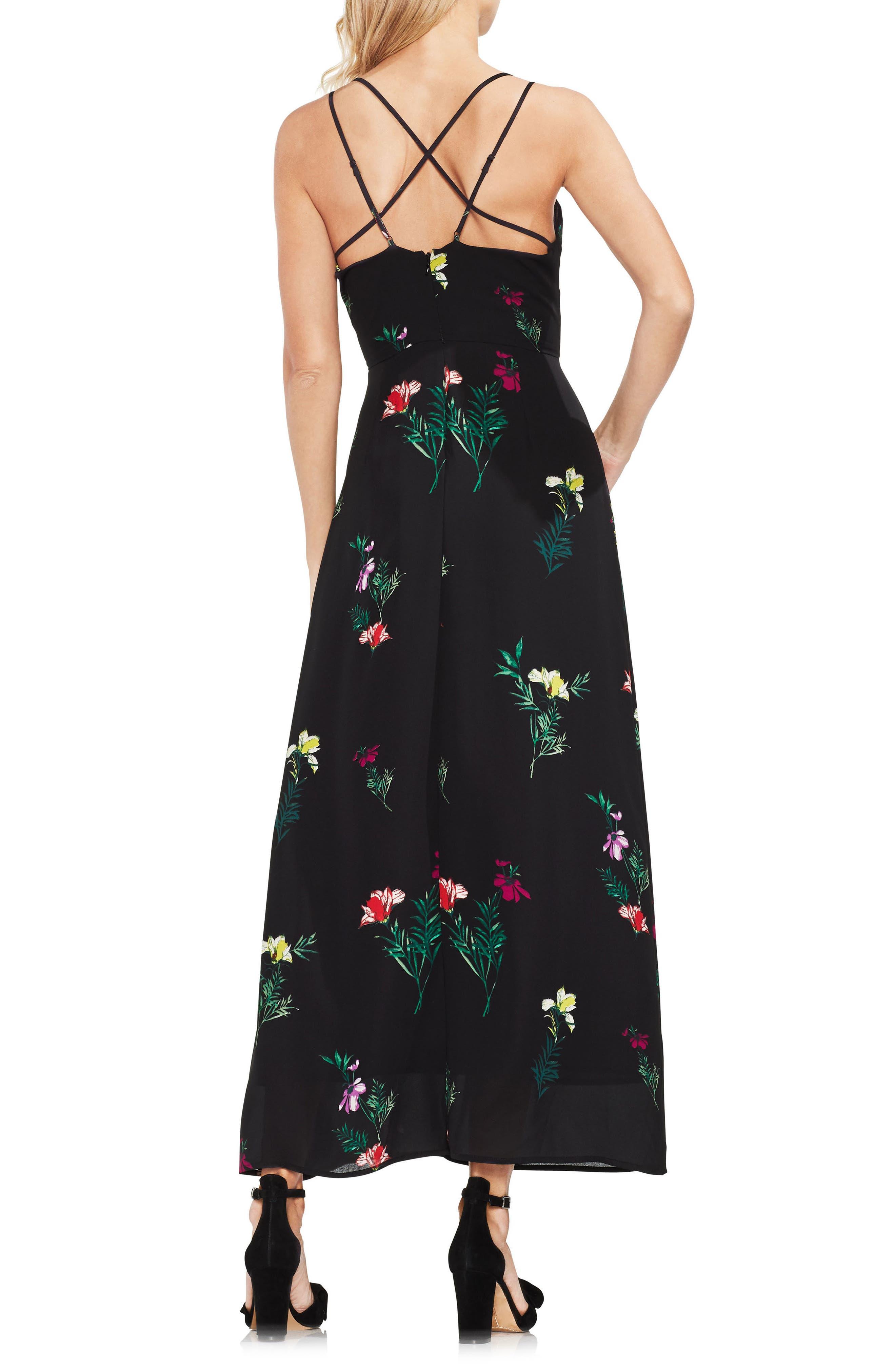 Tropical Garden Maxi Dress,                             Alternate thumbnail 2, color,                             001