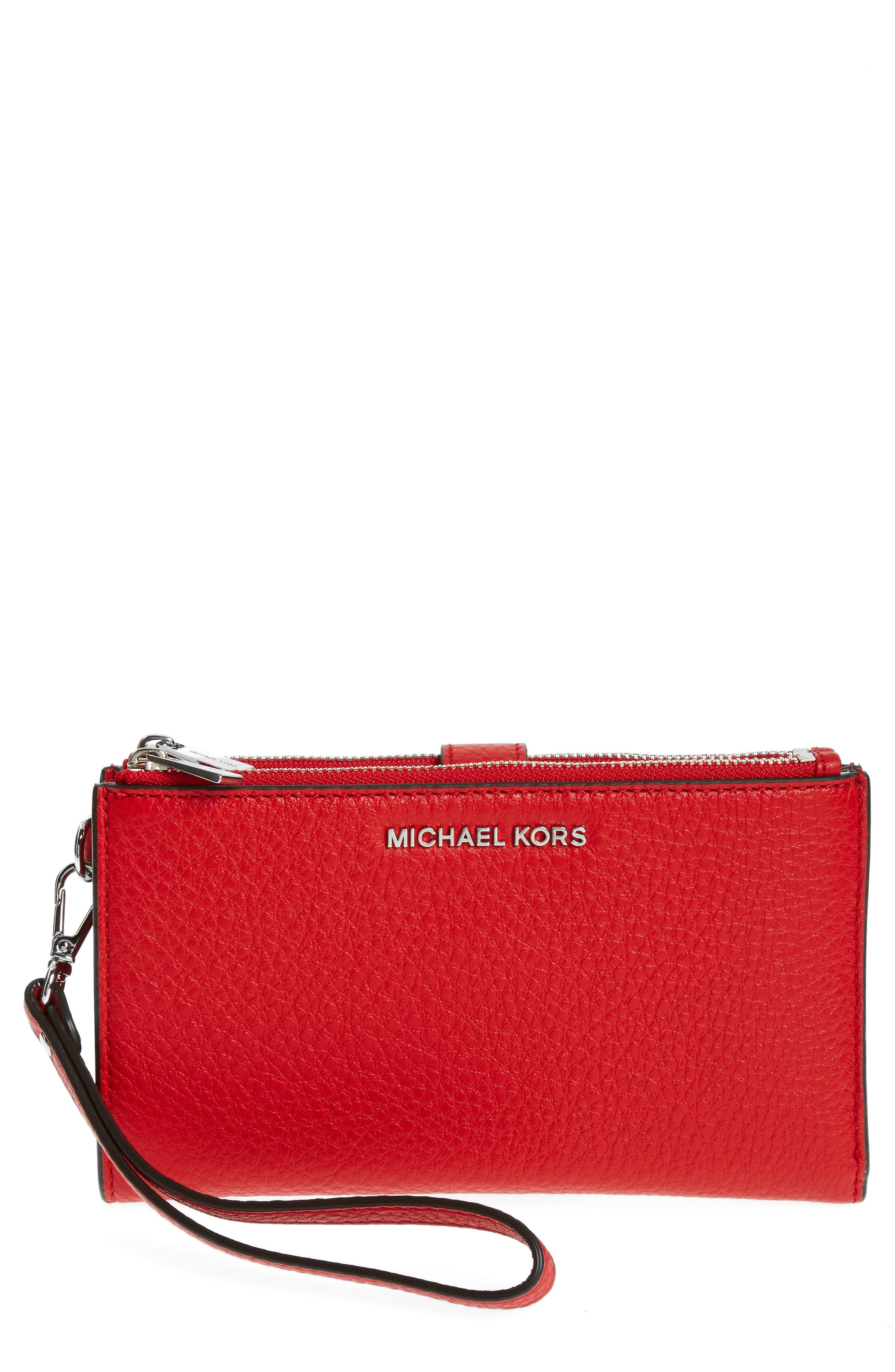 Adele Leather Wristlet,                             Main thumbnail 10, color,