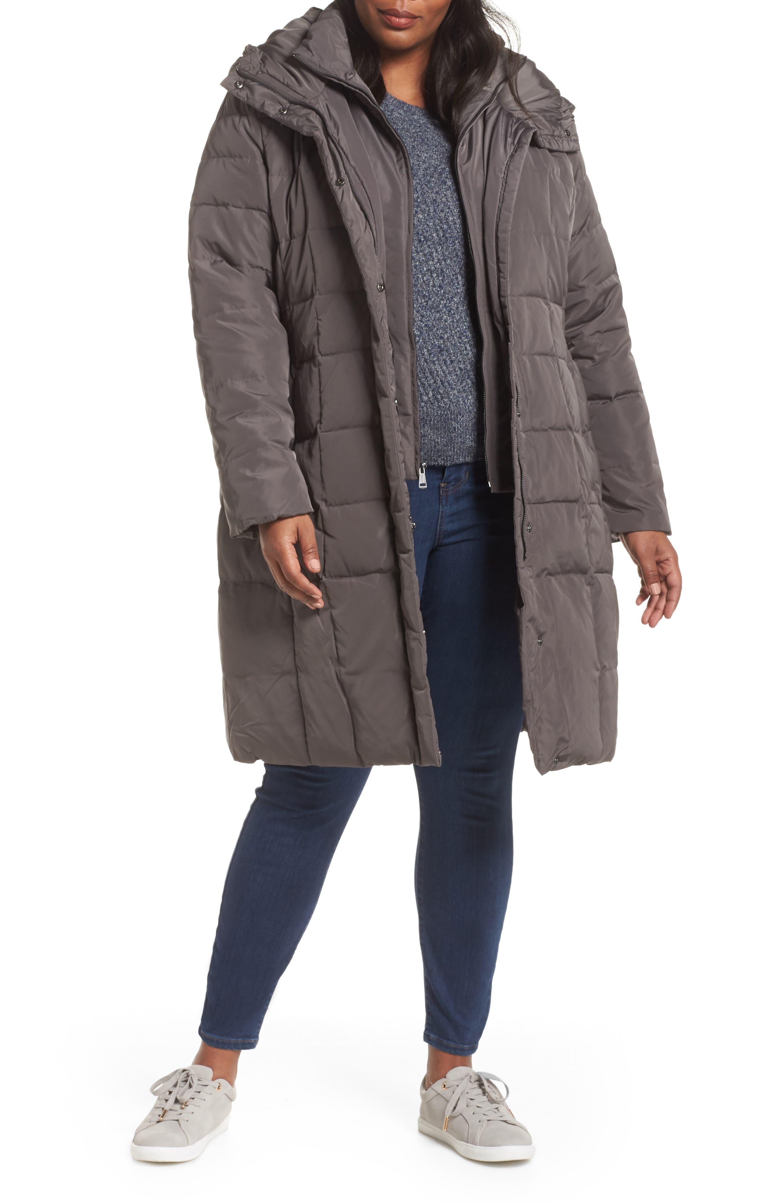 Bib Inset Coat,                         Main,                         color, CARBON