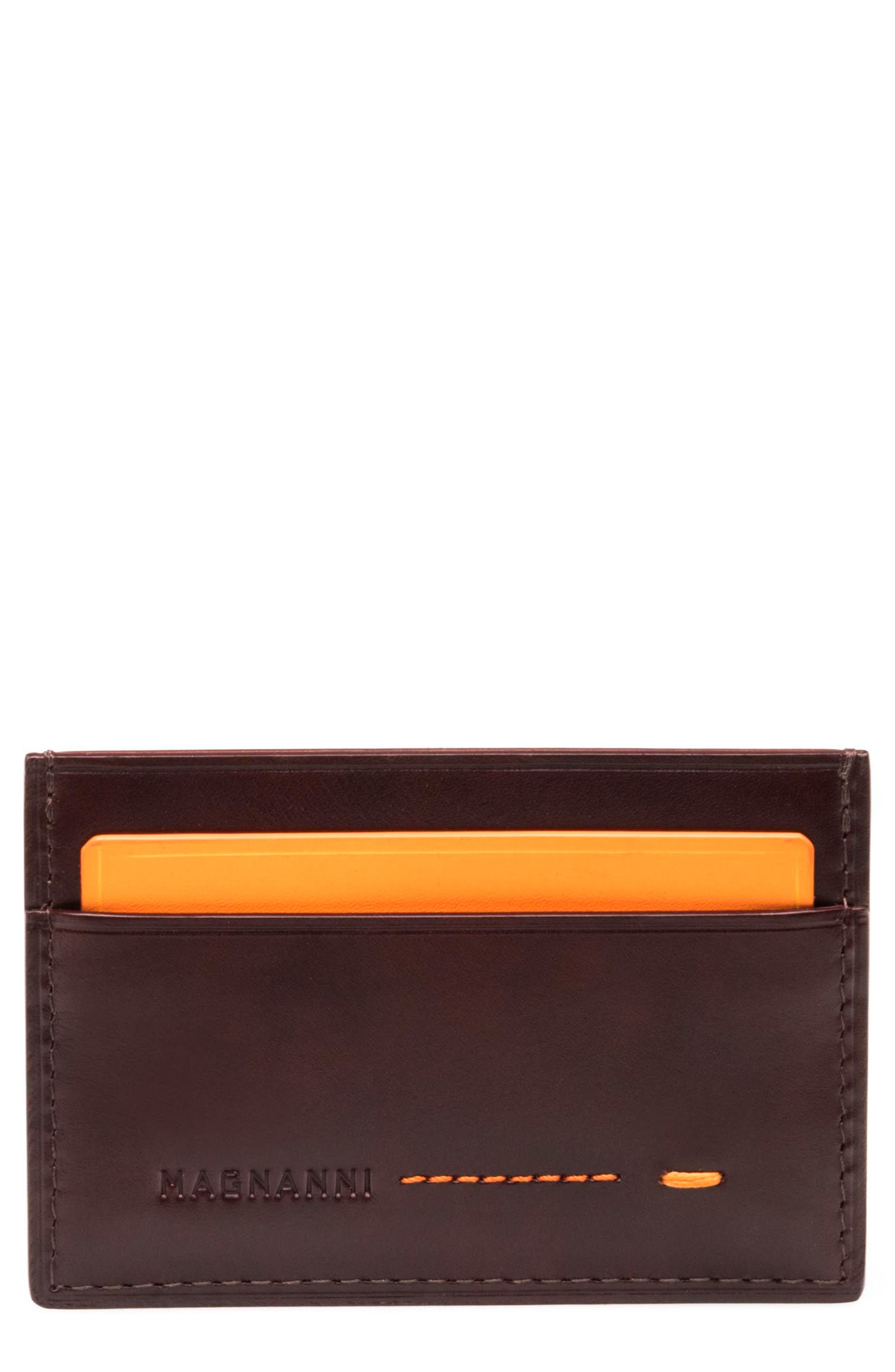 Leather Card Case,                         Main,                         color, 210