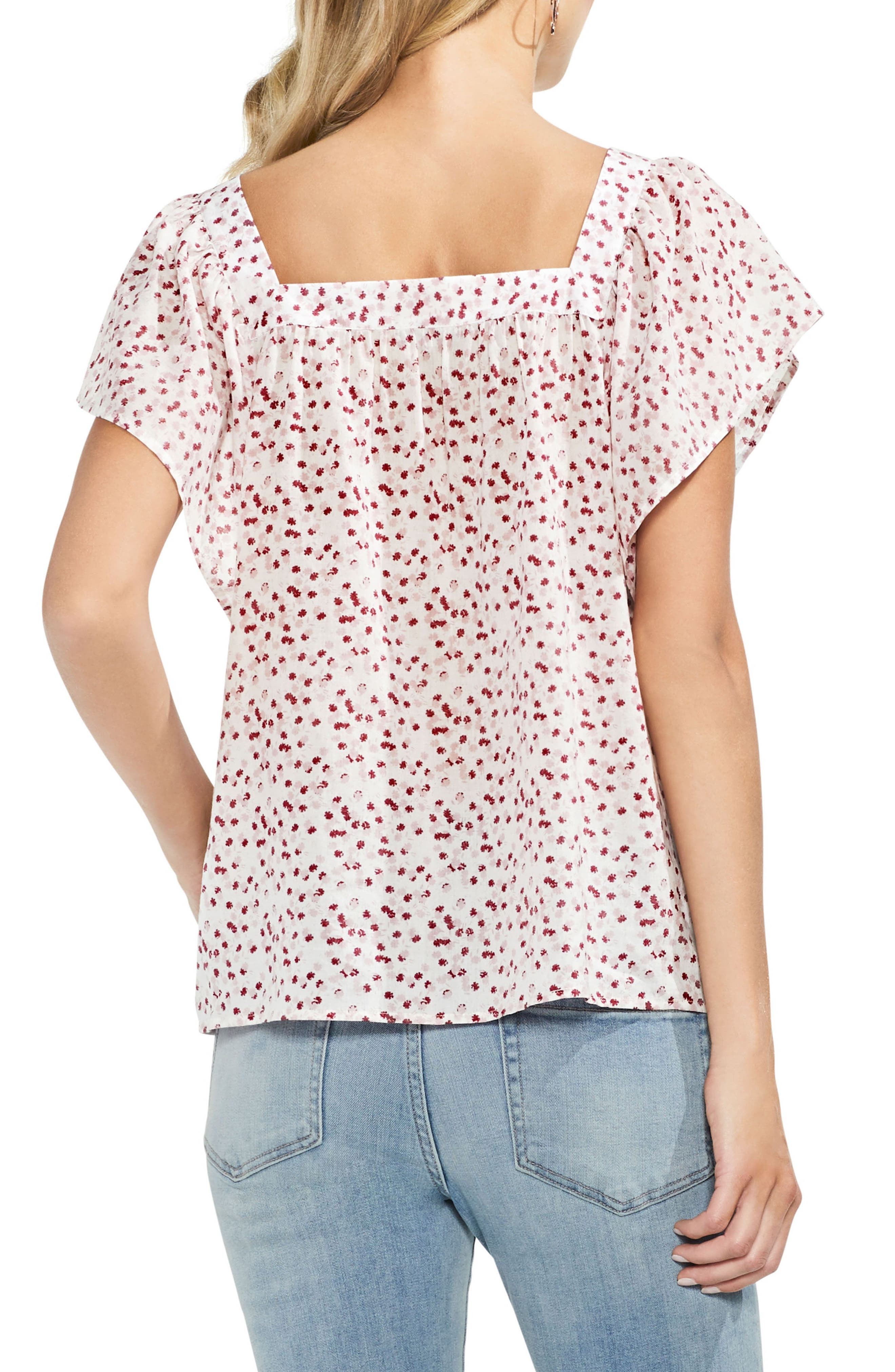 Floral Print Blouse,                             Alternate thumbnail 2, color,                             103