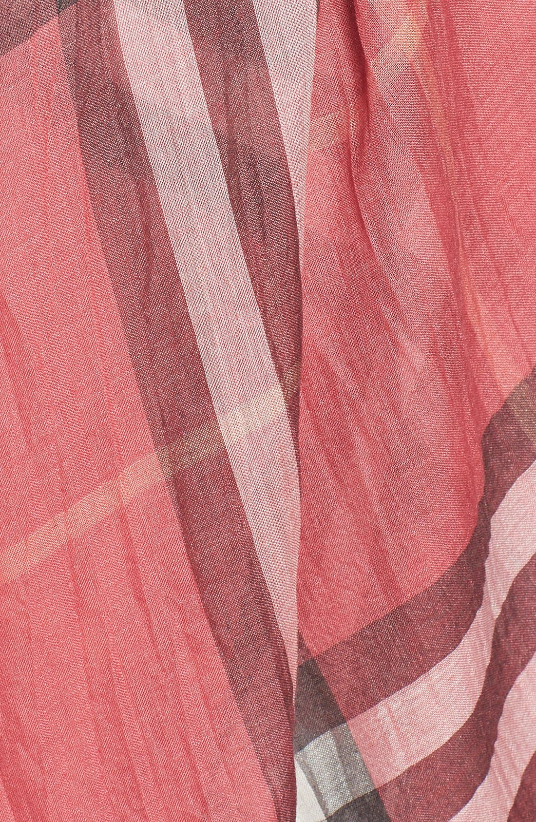 Giant Check Print Wool & Silk Scarf,                             Alternate thumbnail 109, color,
