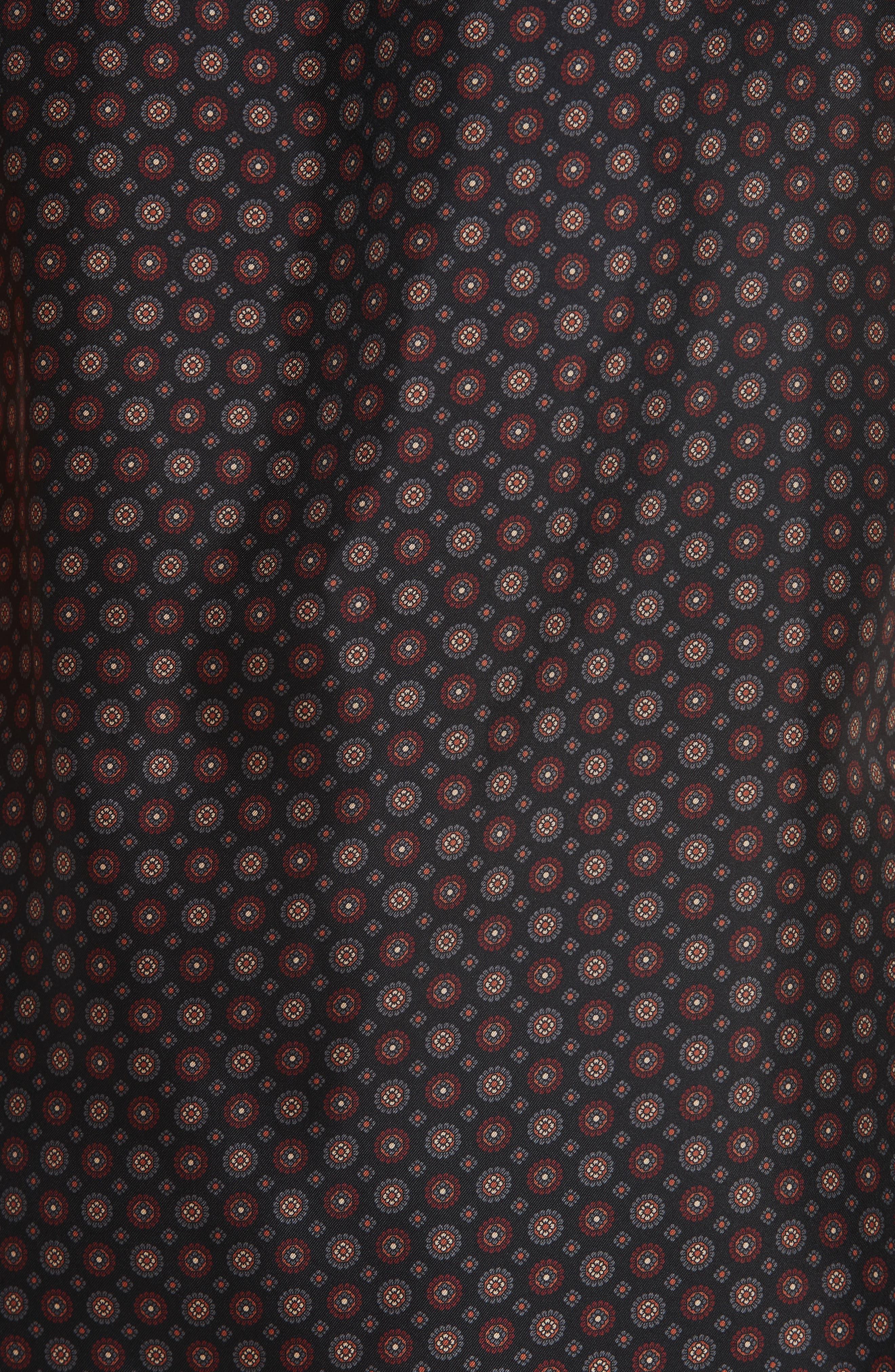 Percy Ruffle Neck Silk Blouse,                             Alternate thumbnail 6, color,                             INK MULTI