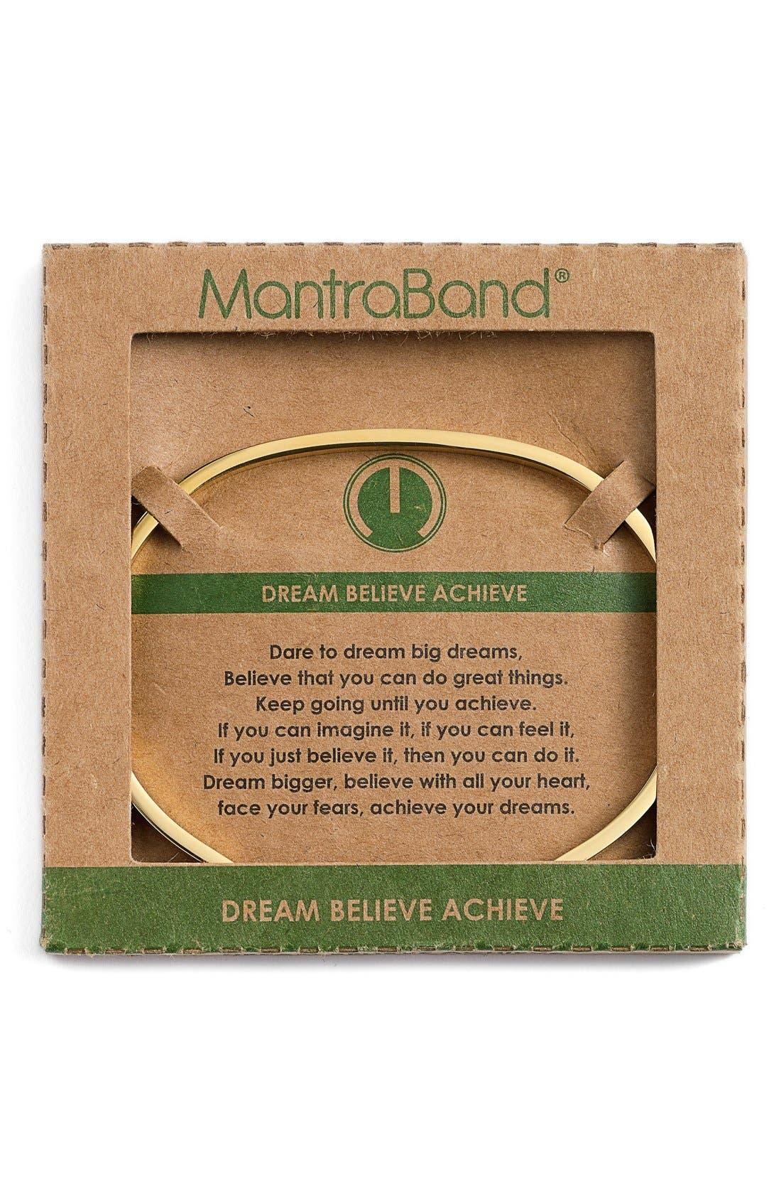 'Dream Believe Achieve' Cuff,                             Alternate thumbnail 2, color,                             GOLD