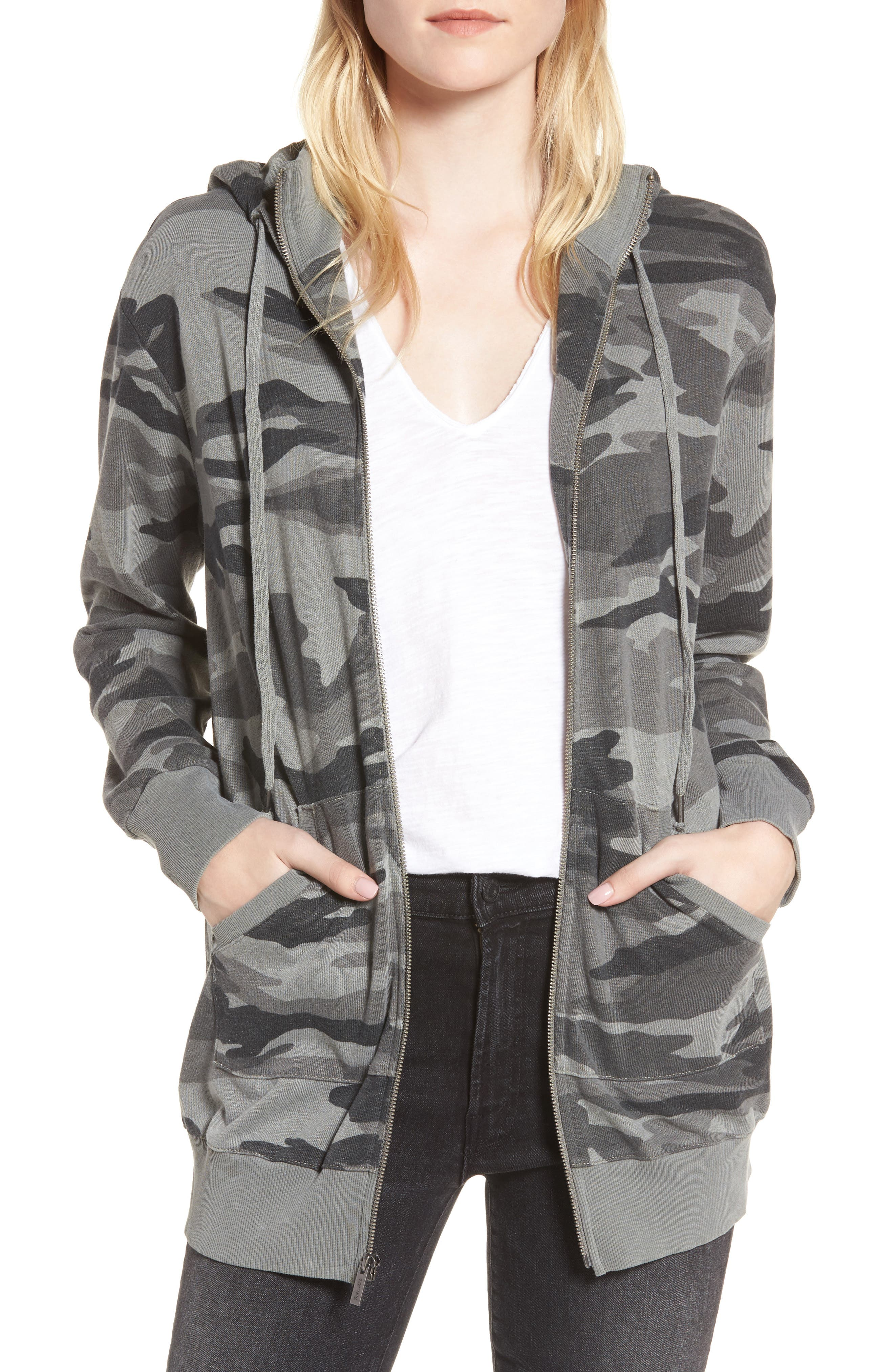 French Terry Camo Sweatshirt,                         Main,                         color, 301
