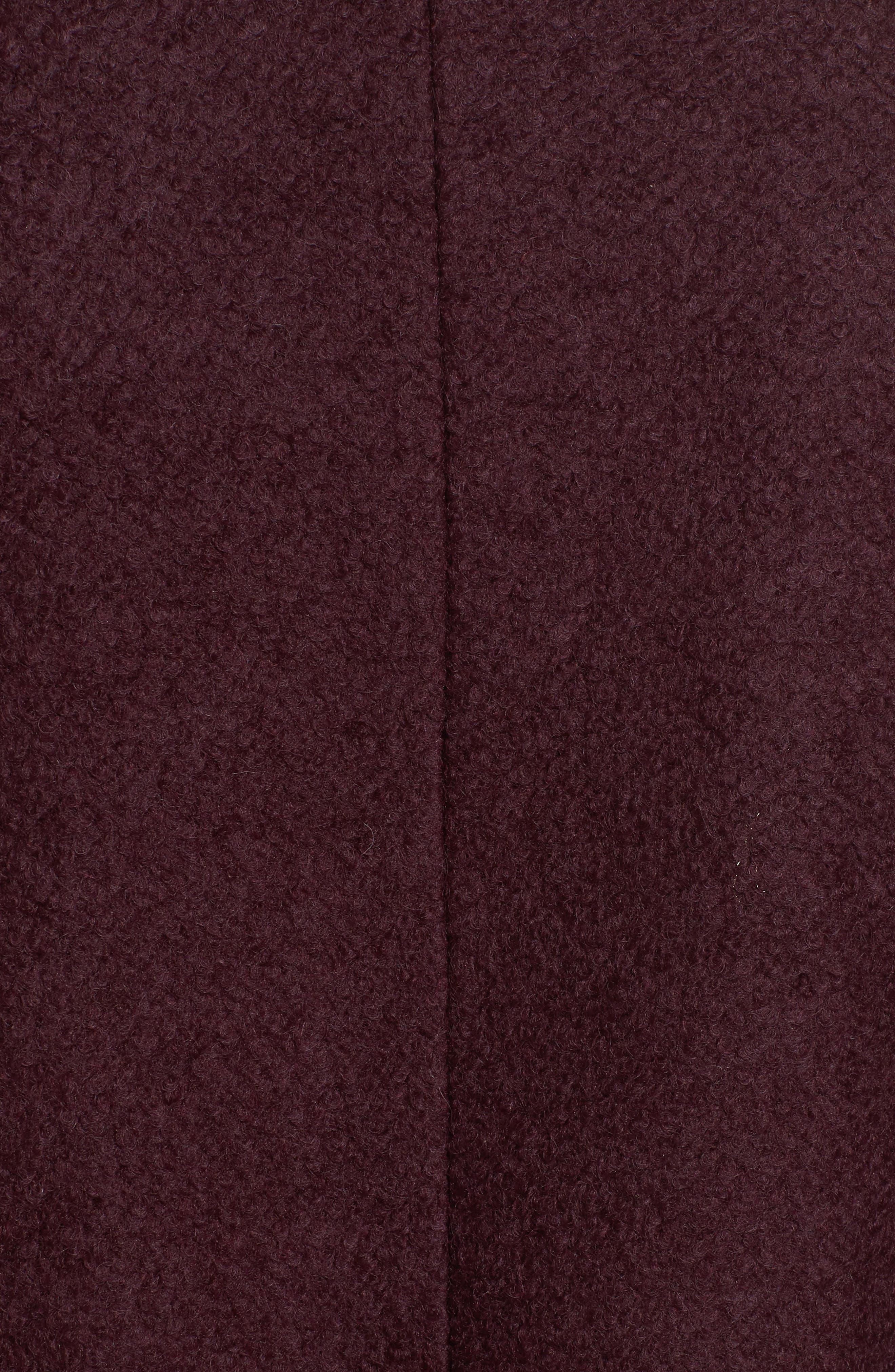 Contrast Collar Bouclé Coat,                             Alternate thumbnail 15, color,