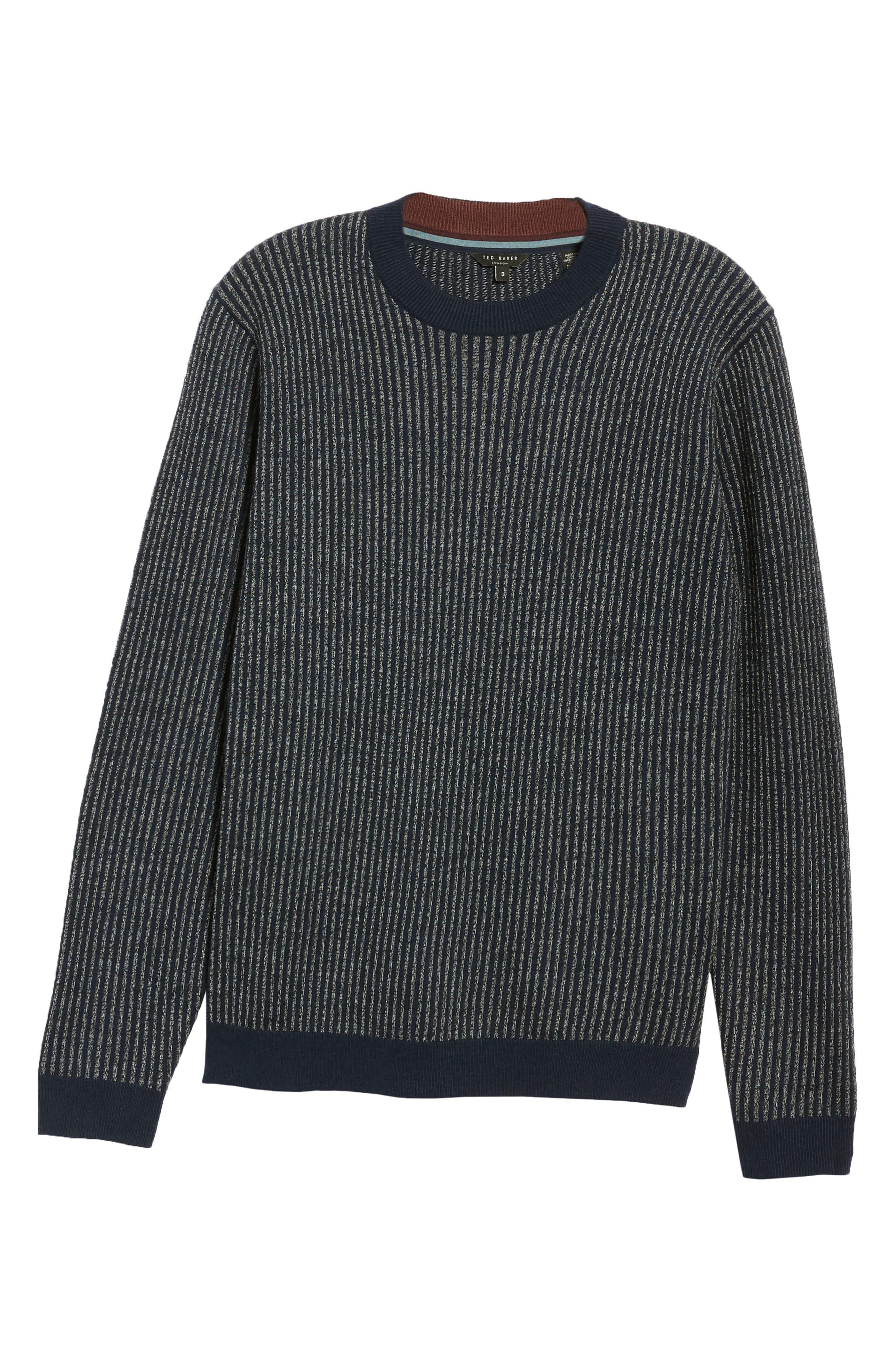 Jinxitt Crewneck Sweater,                             Alternate thumbnail 6, color,                             NAVY
