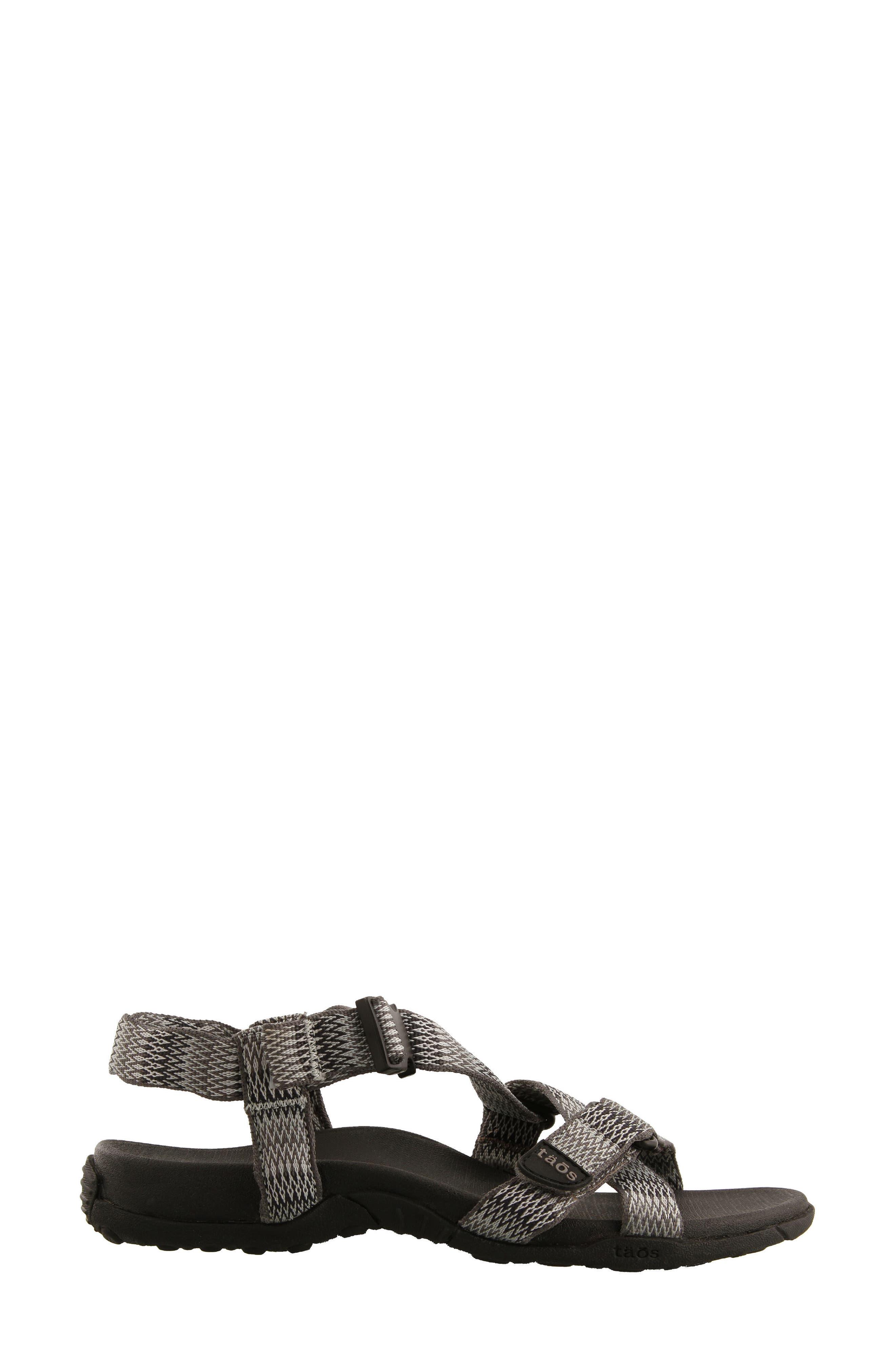 New Wave Sandal,                             Alternate thumbnail 2, color,                             BLACK FABRIC