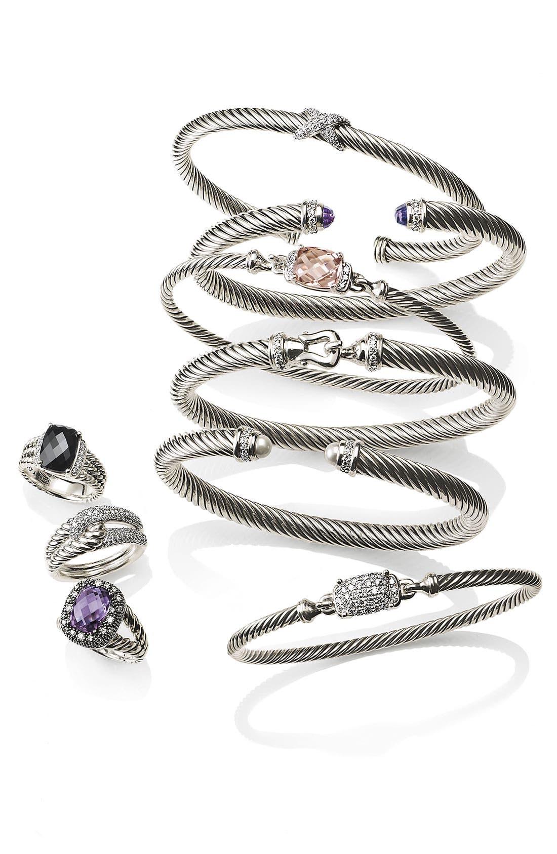 Cable Classics Bracelet with Semiprecious Stones & Diamonds, 5mm,                             Alternate thumbnail 2, color,                             BLUE TOPAZ