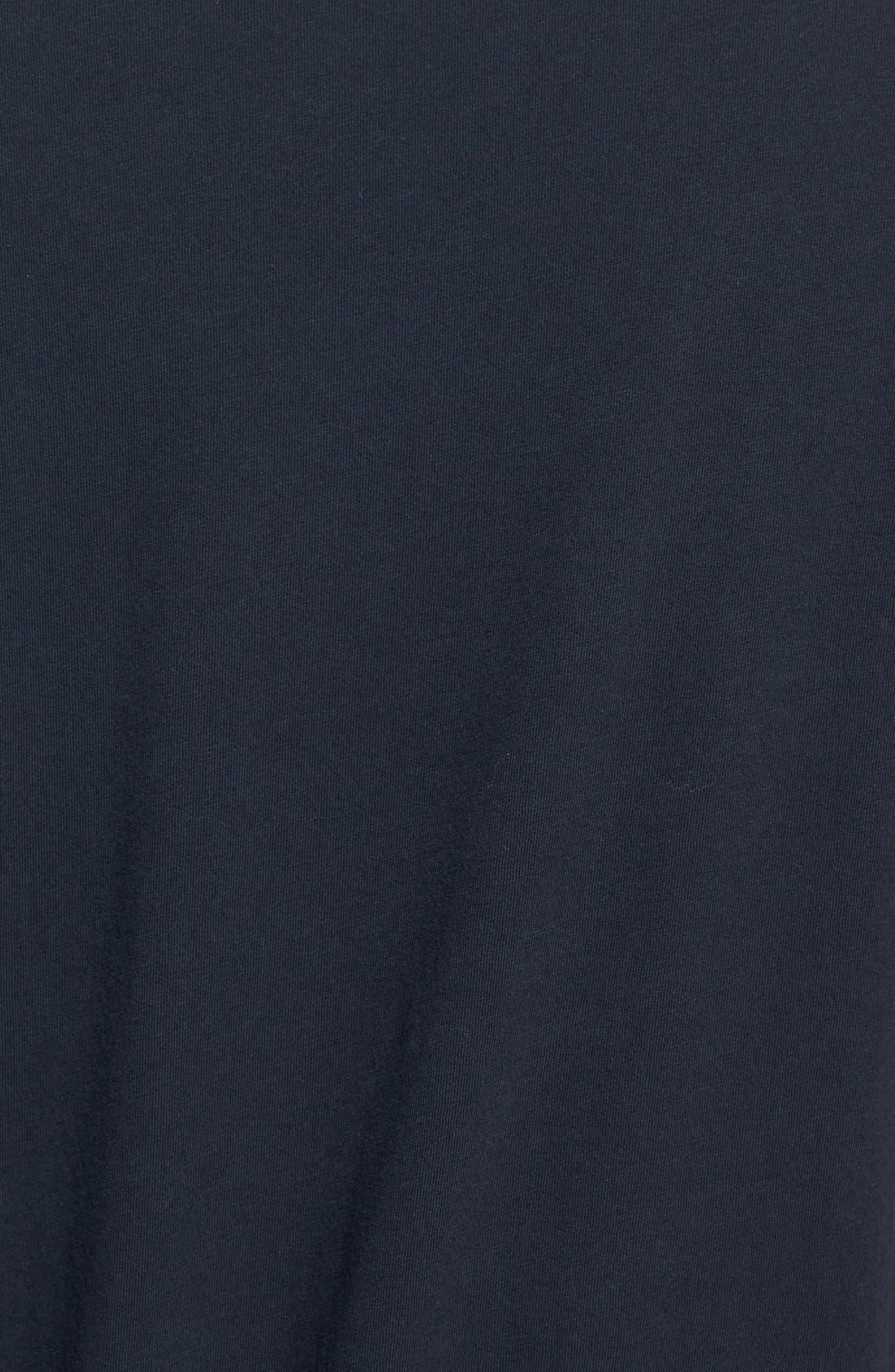Long Sleeve Crewneck T-Shirt,                             Alternate thumbnail 3, color,                             001