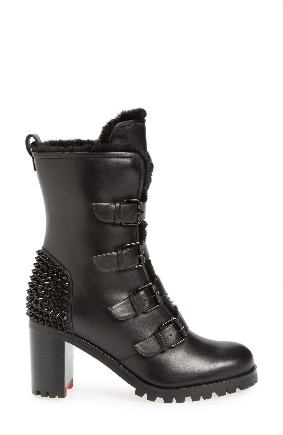 'Glorymount' Studded Buckle Boot,                             Alternate thumbnail 3, color,